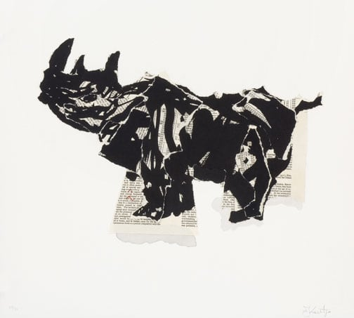 William Kentridge, Untitled (Rhino III), 2007