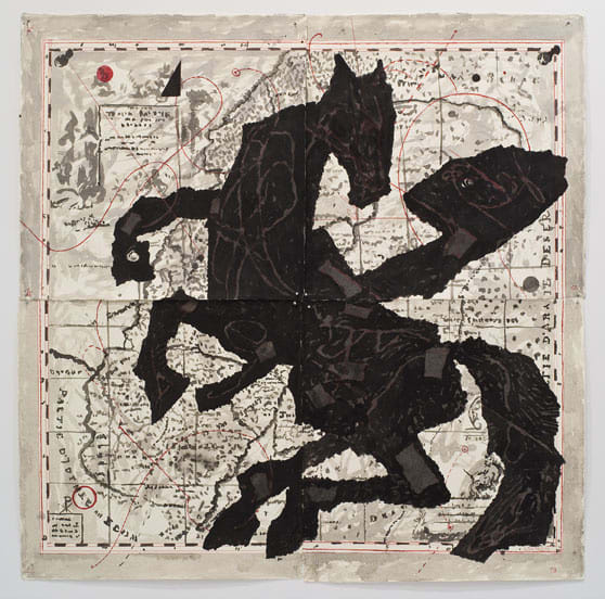 William Kentridge, Nose on Rearing Horse, 2007