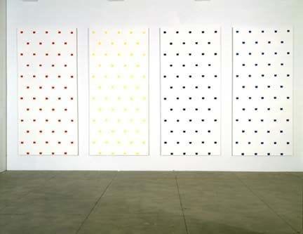 Niele Toroni, Empreintes de pinceau no. 50 à intervalles réguliers de 30 cm, 1997