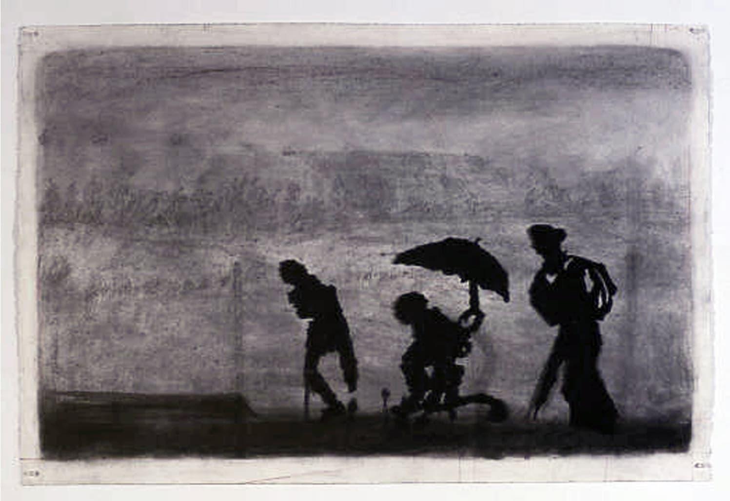 William Kentridge, Three figures, 2003
