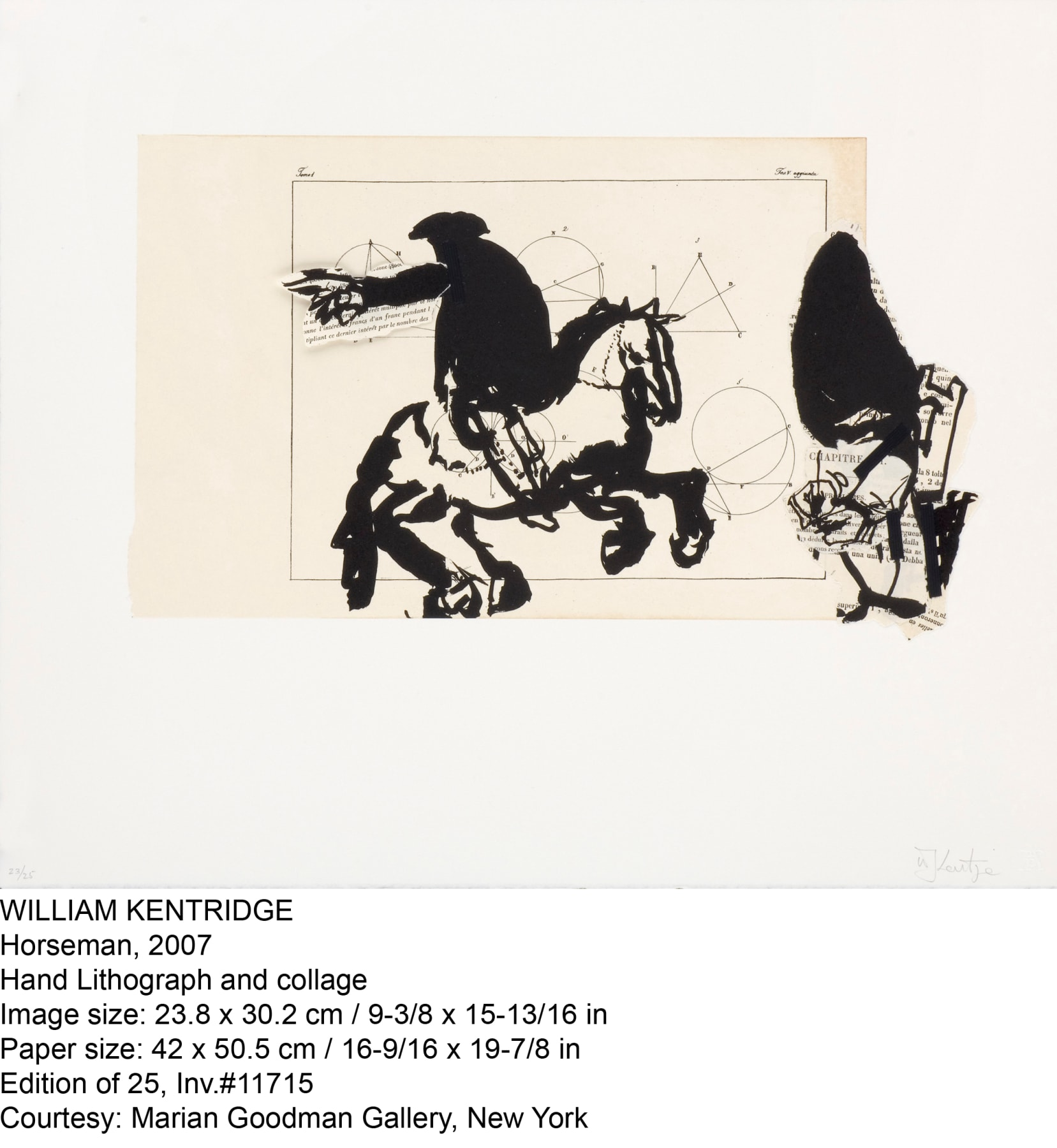 William Kentridge, Horseman, 2007