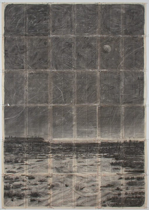 William Kentridge, Drawing for 'Journey to the Moon', 2003