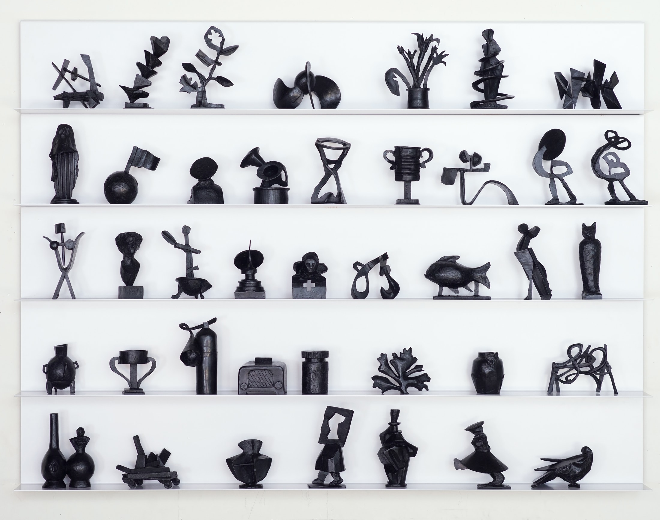 Various small sculptures by William Kentridge