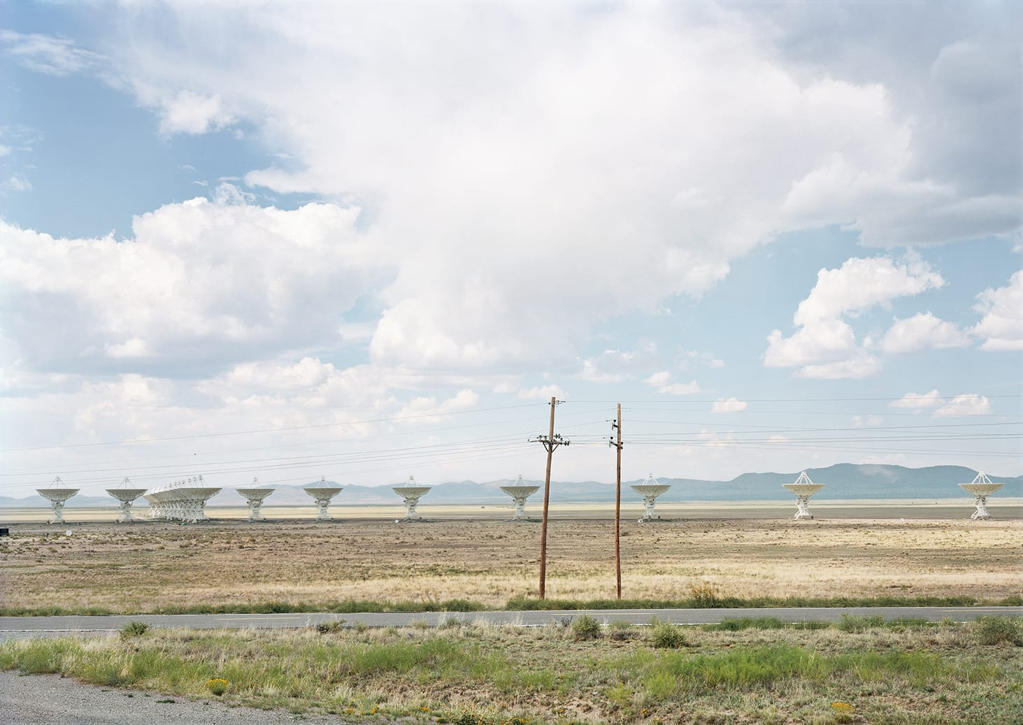 Radio antennas in Socorro, New Mexico