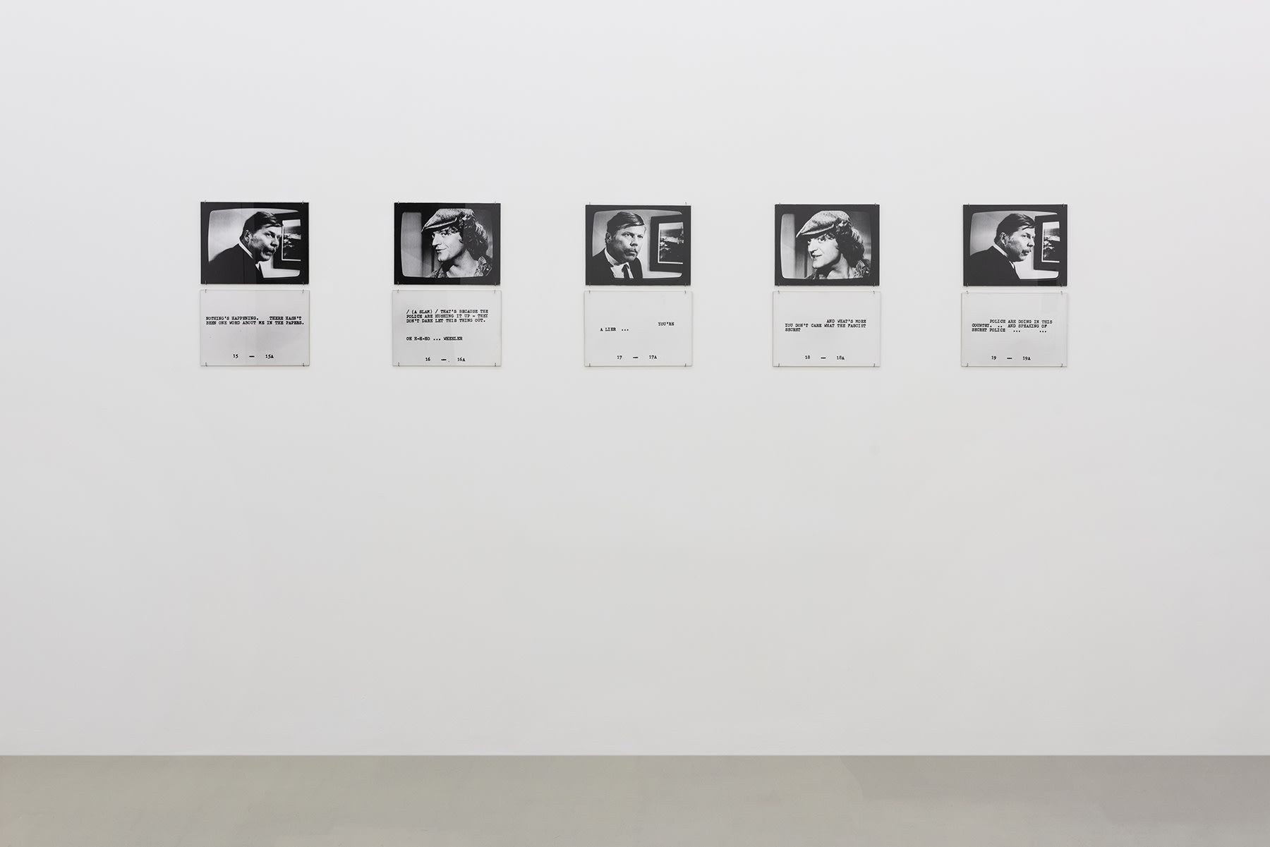 5 black and white photographs are displayed with text underneath.