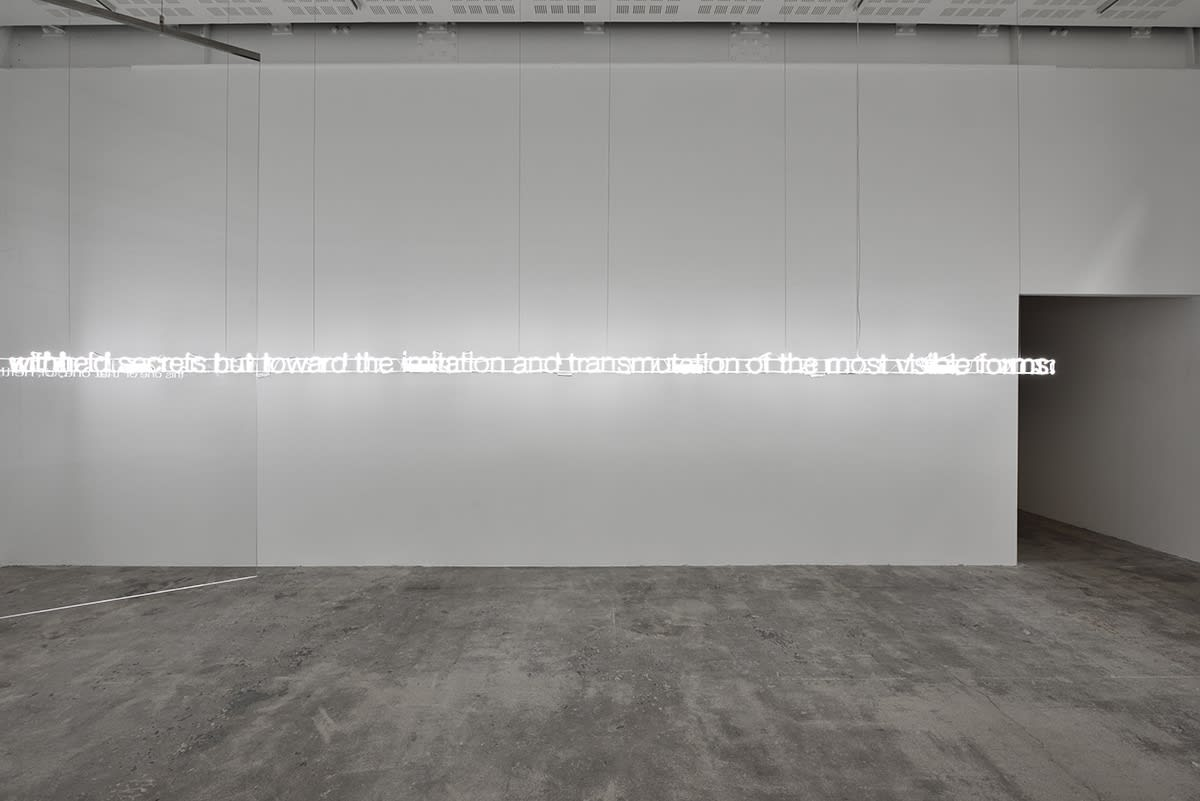 Cerith Wyn Evans As if, Seeing in the manner of listening…Hearing as if looking