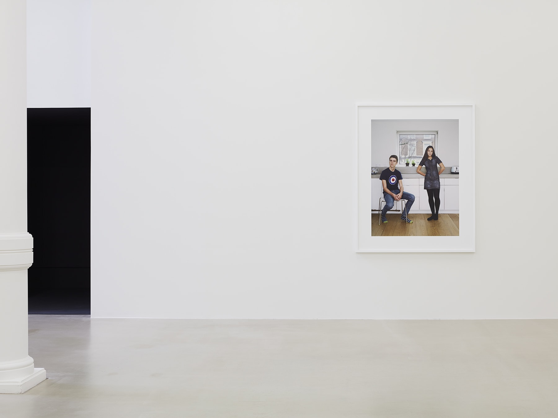 A framed photograph in Rineke Dijkstra's exhibition at Marian Goodman Gallery, London, March 2020