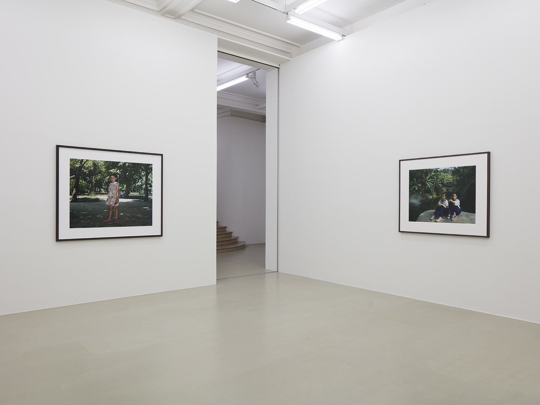 2 framed photographs in Rineke Dijkstra's exhibition at Marian Goodman Gallery, London, March 2020