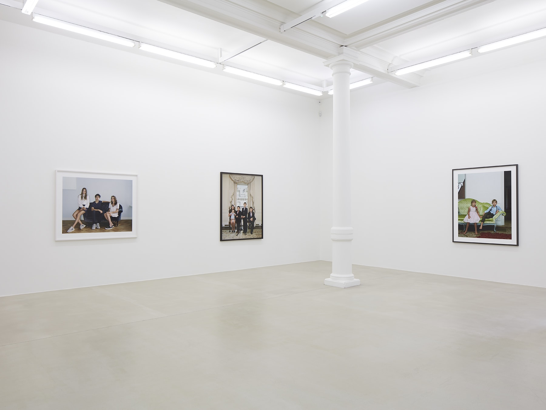 3 framed photographs in Rineke Dijkstra's exhibition at Marian Goodman Gallery, London, March 2020