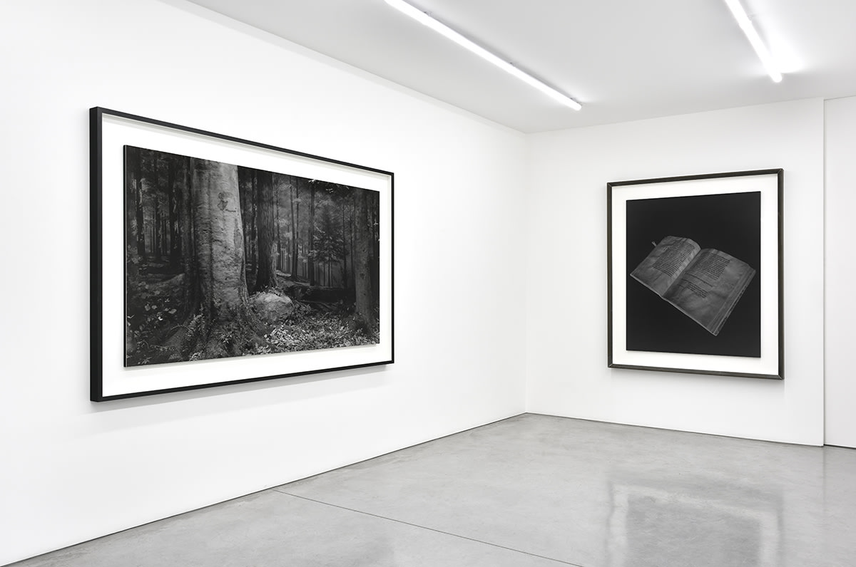 2 large, framed black and white photographs by Hiroshi Sugimoto