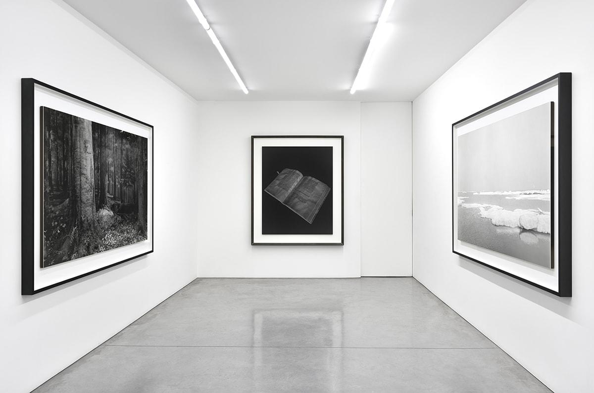 3 large, framed black and white photographs by Hiroshi Sugimoto