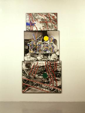John Baldessari, Three Traceries (One With Blue Boat), 1990