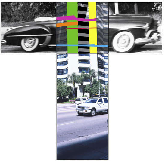 John Baldessari, The Intersection Series: Automobile/High Rise Building, 2002