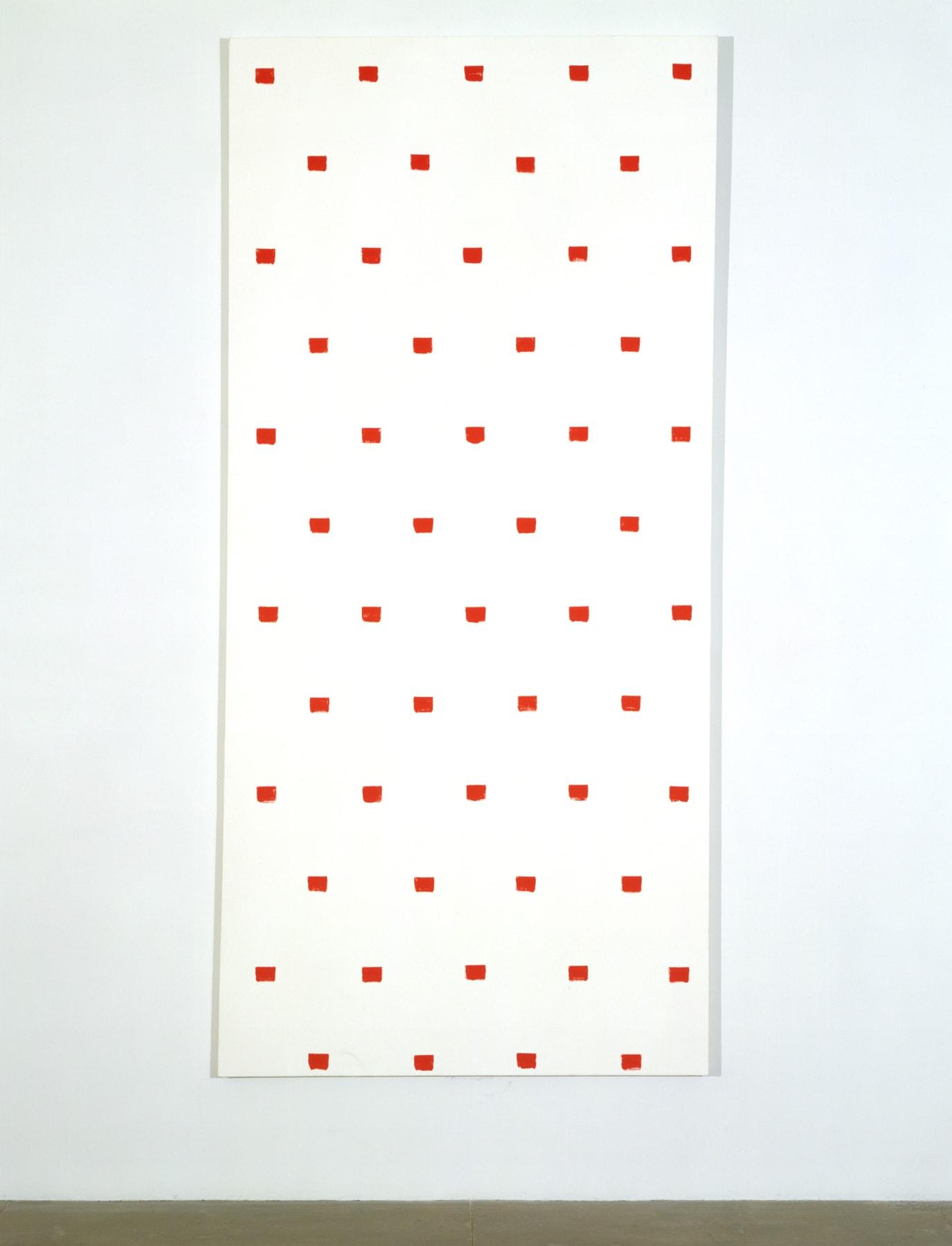Niele Toroni, Red Painting, 1997