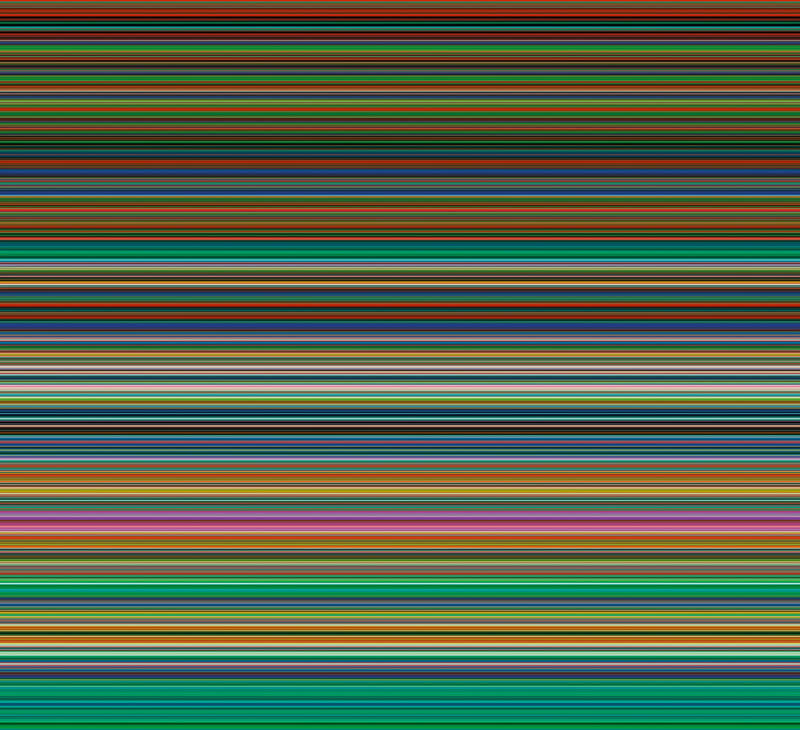 Various horizontal stripes of bright colors.