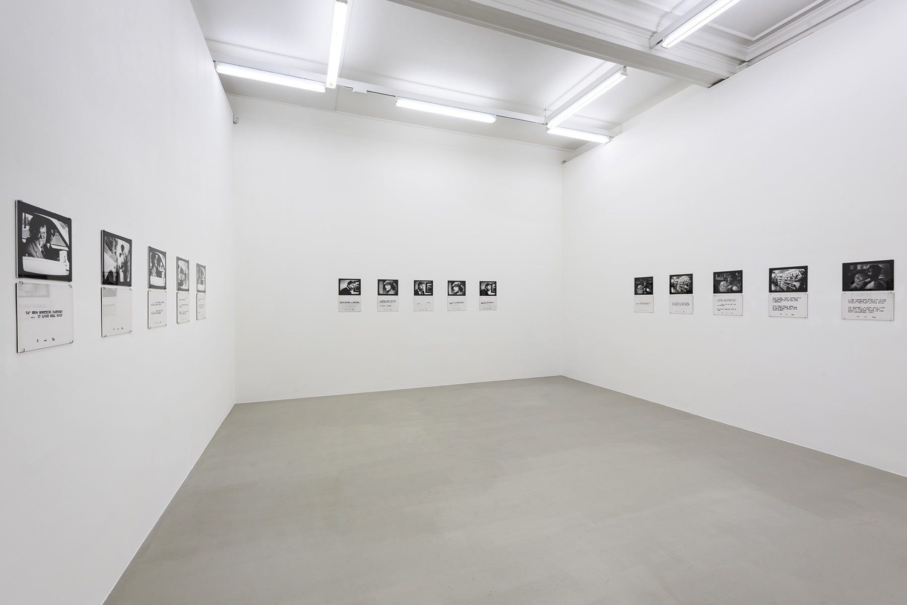 15 black and white photographs are displayed with text underneath.