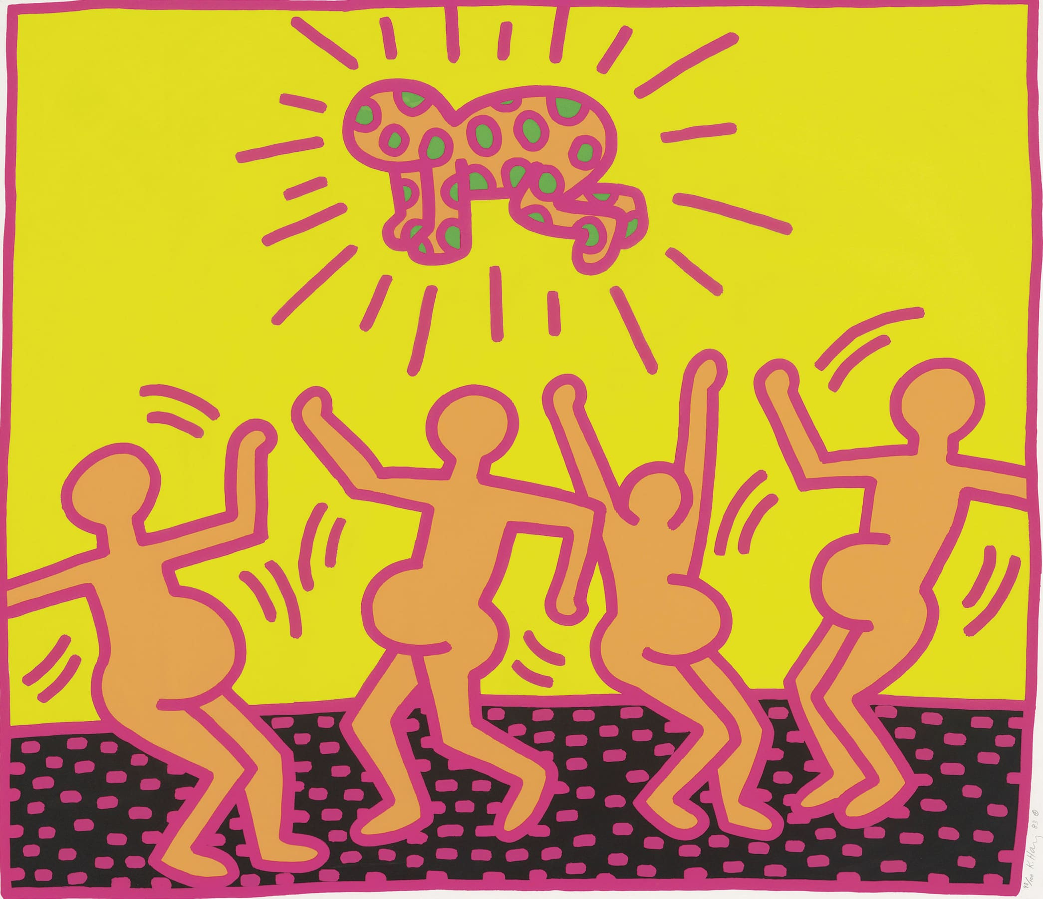 The Works That Define Keith Haring, The artist is known for his recurring images - from barking dogs, to hearts....