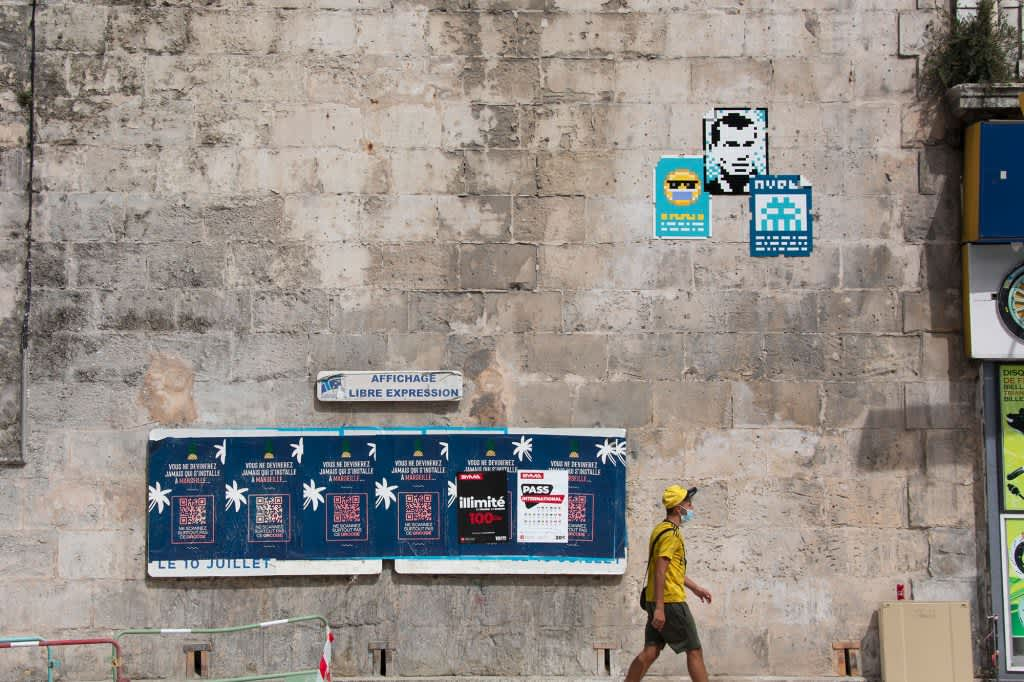 Invader Comes to Marseille, The Artist Strikes Again, Secretly Covering Marseille in his Pixelated Works
