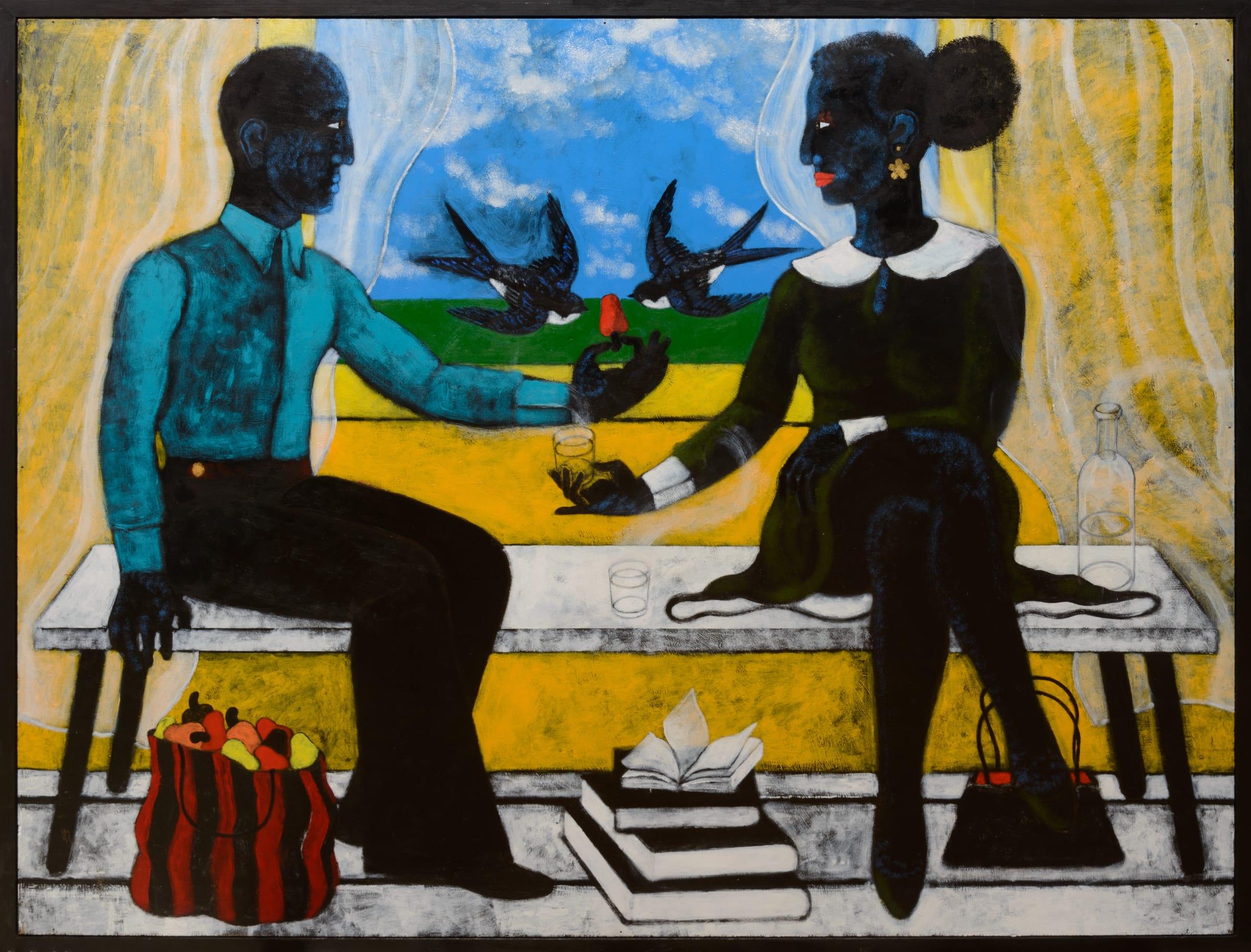 JUST LOOKING: Abe Odedina at Art X Lagos