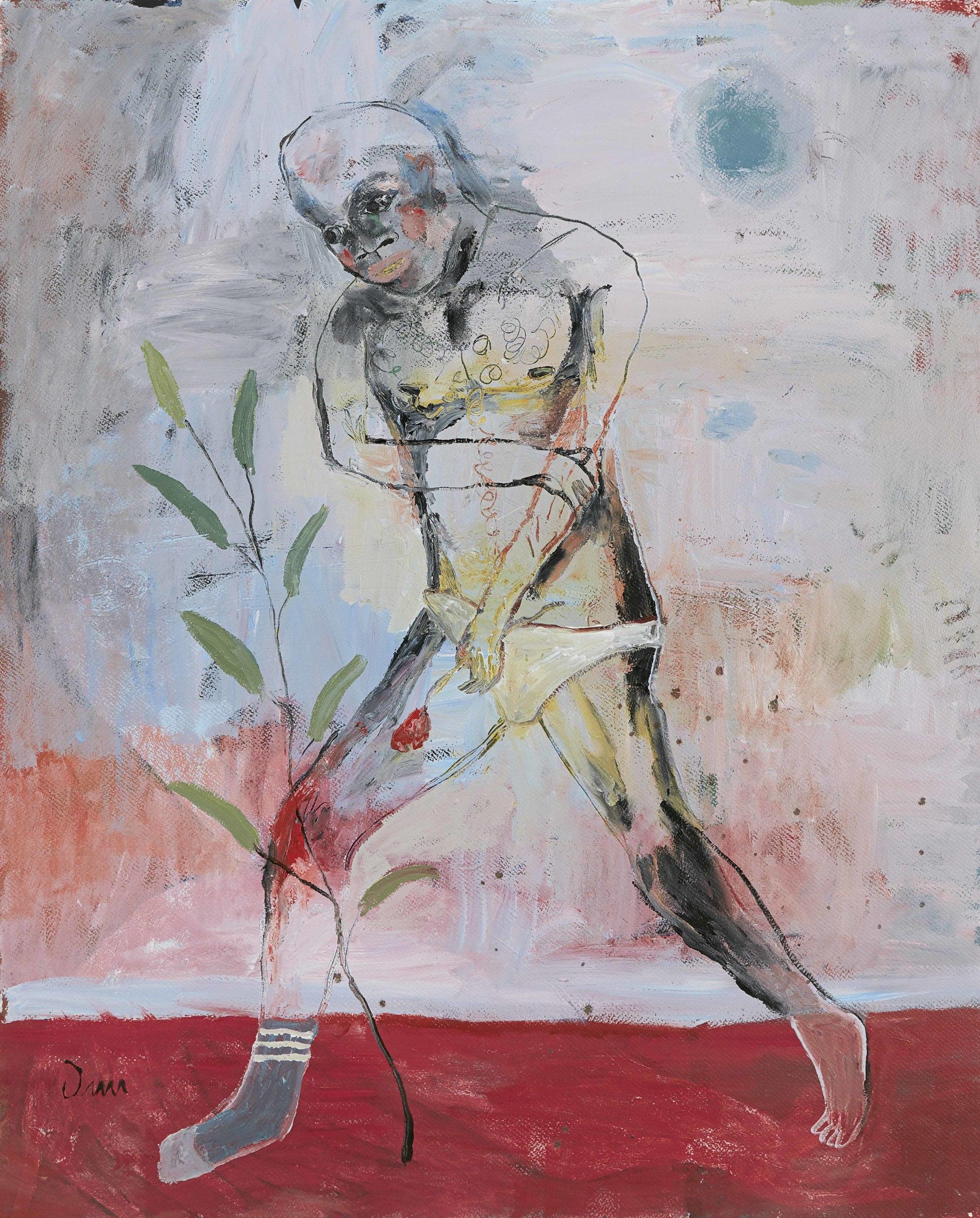 "<span class=""link fancybox-details-link""><a href=""/exhibitions/11/works/artworks3853/"">View Detail Page</a></span><div class=""artist""><strong>John-Michael Metelerkamp</strong></div> 1982 -<div class=""title""><em>Blue Marrow</em>, 2017</div><div class=""medium"">Acrylic on paper</div><div class=""dimensions"">1320x1050mm</div>"