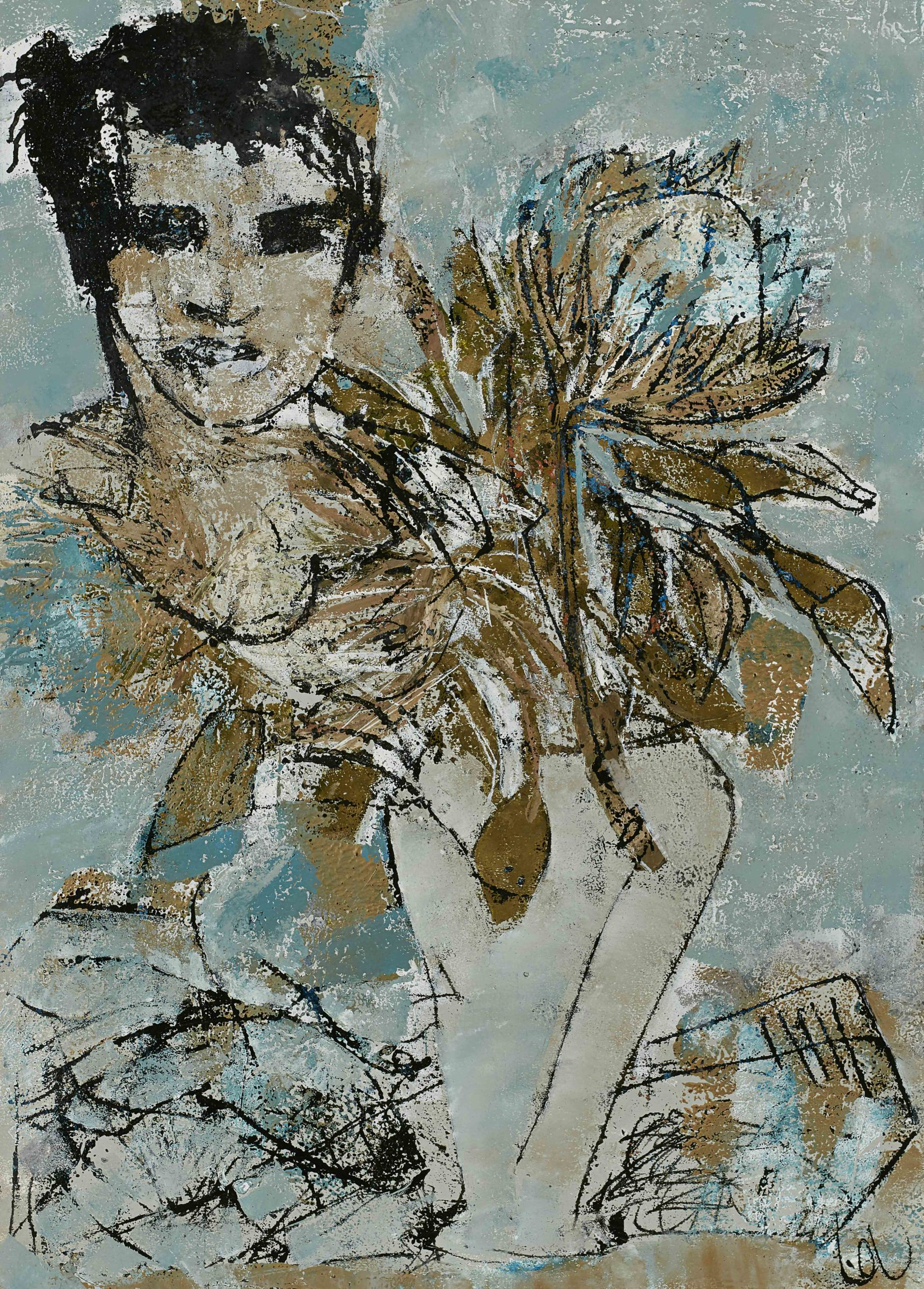 """<span class=""""link fancybox-details-link""""><a href=""""/exhibitions/12/works/artworks4308/"""">View Detail Page</a></span><div class=""""artist""""><strong>Louise Almon</strong></div><div class=""""title""""><em>Gift in Blue</em>, 2017</div><div class=""""medium"""">Printing ink on Fabriano</div><div class=""""dimensions"""">700x500mm</div>"""