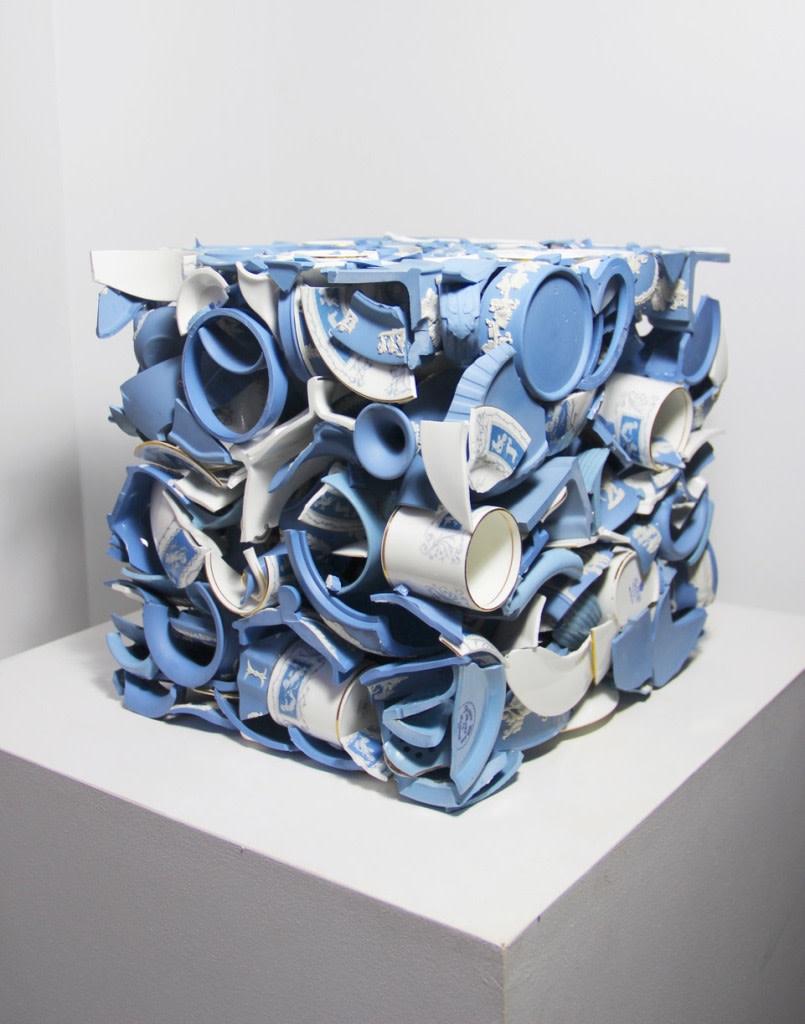 "<span class=""link fancybox-details-link""><a href=""/exhibitions/12/works/artworks2111/"">View Detail Page</a></span><div class=""artist""><strong>Sandra Shashou</strong></div><div class=""title""><em>Invaded by Love </em>, 2018</div><div class=""medium"">Wedgwood Blue Jasper Ware Vintage </div><div class=""dimensions"">30 x 30 x 30 cm<br>11 3/4 x 11 3/4 x 11 3/4 in.</div>"