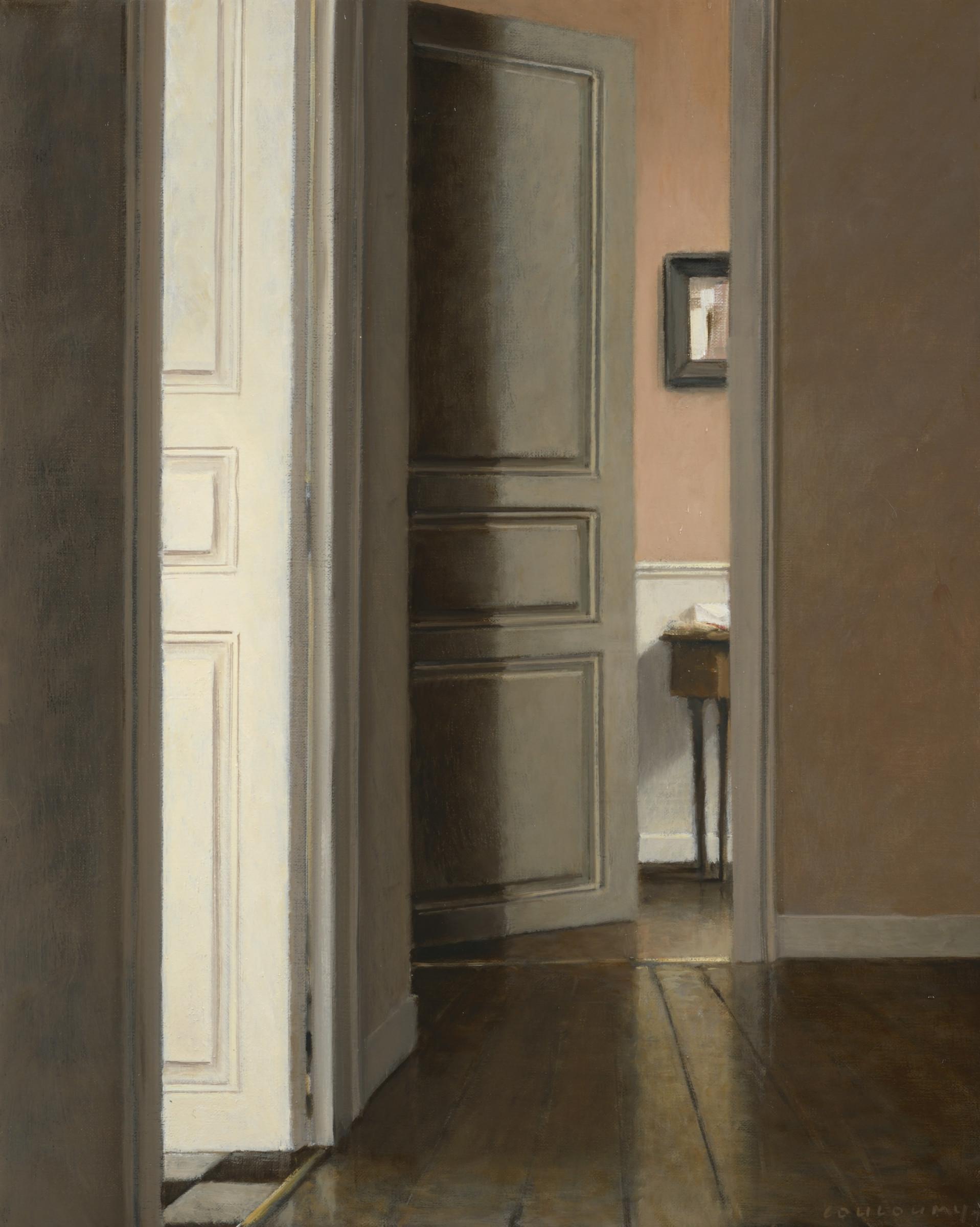 "<span class=""link fancybox-details-link""><a href=""/exhibitions/14/works/artworks2009/"">View Detail Page</a></span><div class=""artist""><strong>Anne–Françoise Couloumy</strong></div><div class=""title""><em>Le couloir rue Renan 4</em>, 2017</div><div class=""medium"">Oil on Canvas</div><div class=""dimensions"">41 x 33 cm<br>16 1/8 x 13 in.</div>"
