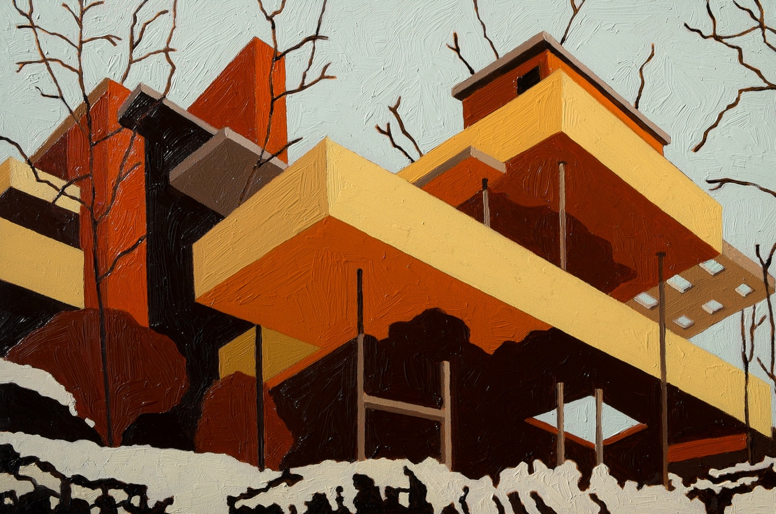 "<span class=""link fancybox-details-link""><a href=""/exhibitions/33/works/artworks412/"">View Detail Page</a></span><div class=""artist""><strong>Andy Burgess</strong></div><div class=""title""><em>Fallingwater</em>, 2016</div><div class=""medium"">Oil on panel </div><div class=""dimensions"">15.2 x 22.9 cm<br>6 x 9 in.</div>"