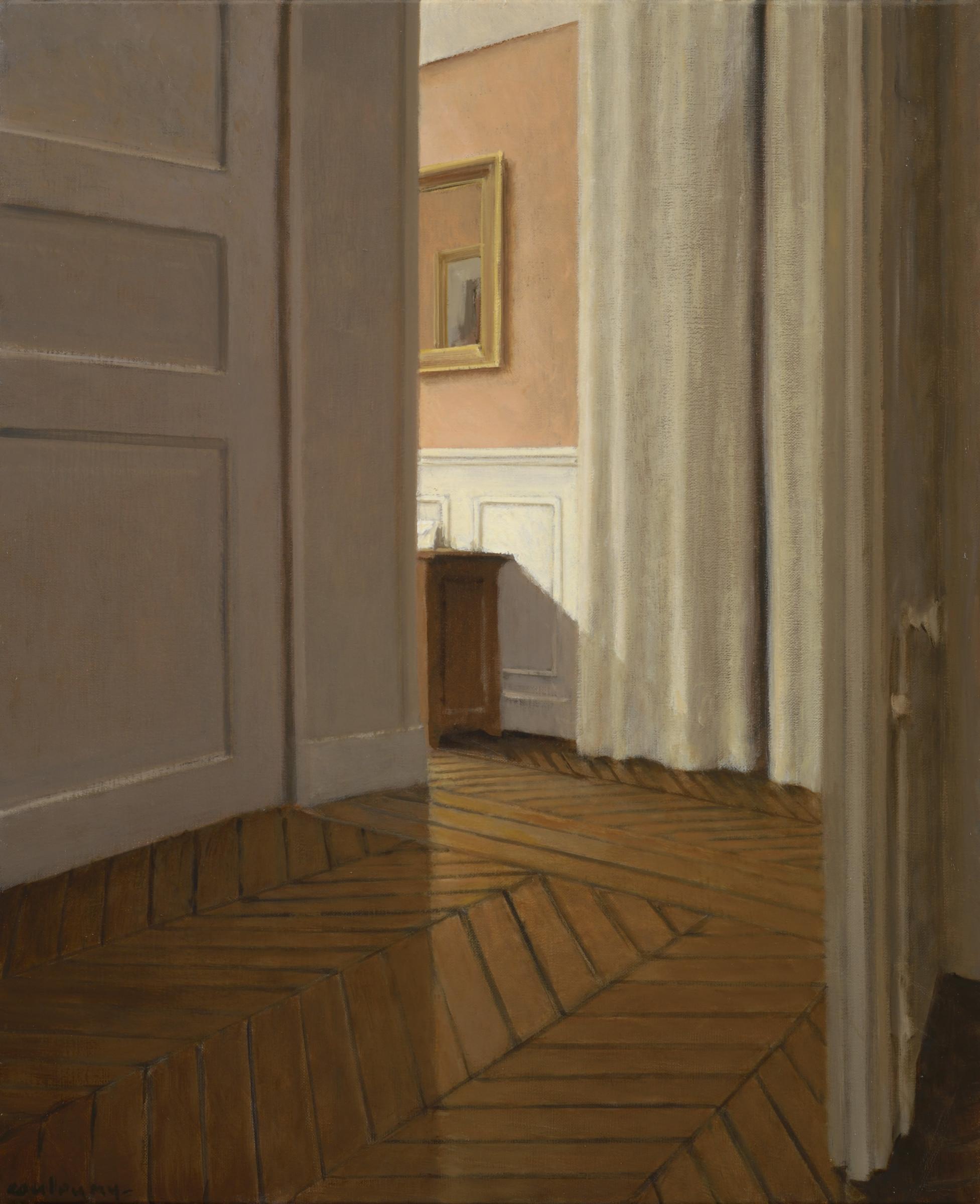 """<span class=""""link fancybox-details-link""""><a href=""""/exhibitions/9/works/artworks2001/"""">View Detail Page</a></span><div class=""""artist""""><strong>Anne–Françoise Couloumy</strong></div><div class=""""title""""><em>L'entrée rue Renan 2</em>, 2017</div><div class=""""medium"""">Oil on Canvas</div><div class=""""dimensions"""">46 x 38 cm<br>18 1/8 x 15 in.</div>"""