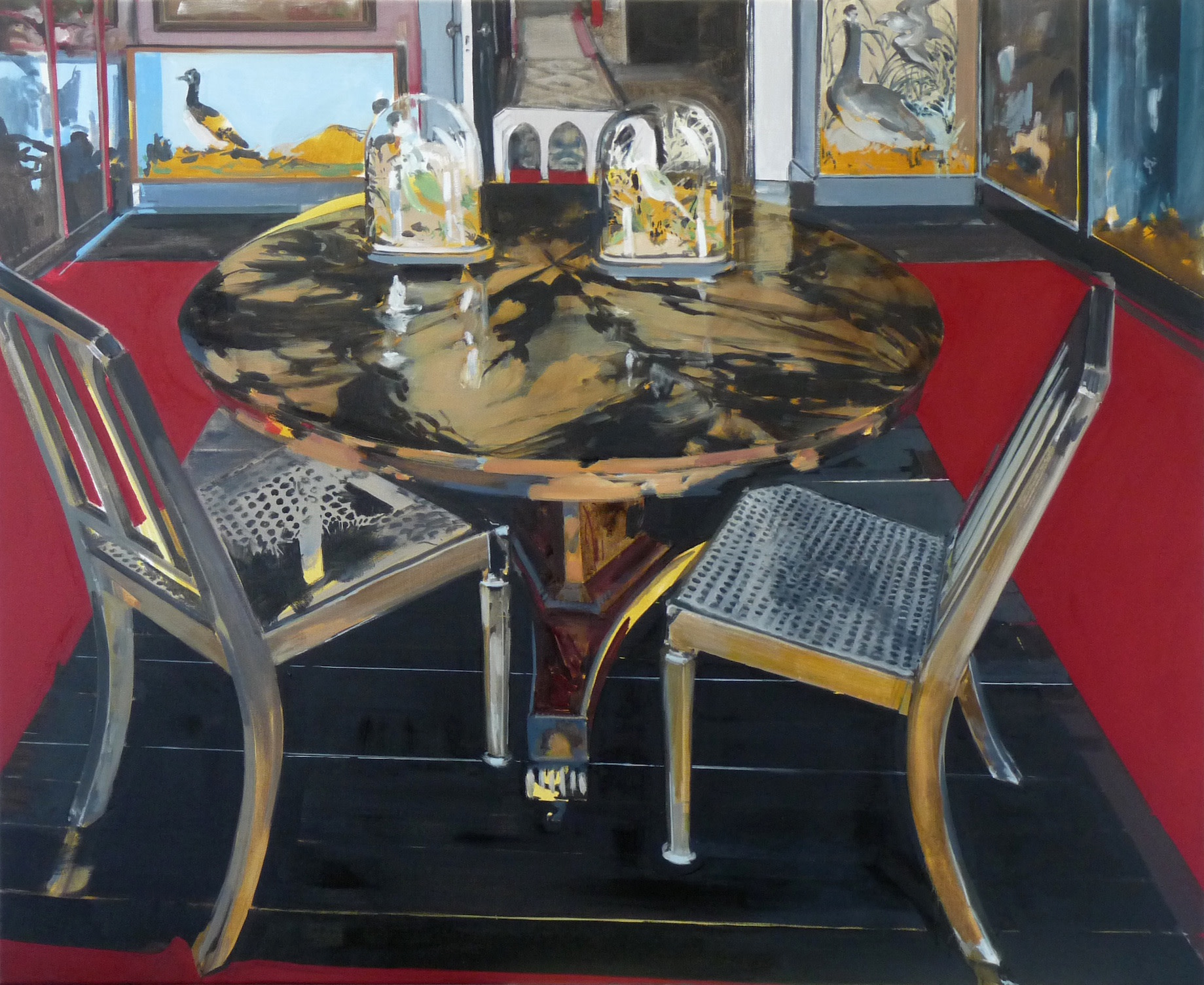 """<span class=""""link fancybox-details-link""""><a href=""""/exhibitions/19/works/artworks2239/"""">View Detail Page</a></span><div class=""""artist""""><strong>Eleanor Watson</strong></div><div class=""""title""""><em>Kept</em>, 2016</div><div class=""""medium"""">Oil on Canvas</div><div class=""""dimensions"""">90 x 110 cm<br>35 3/8 x 43 1/4 in.</div>"""