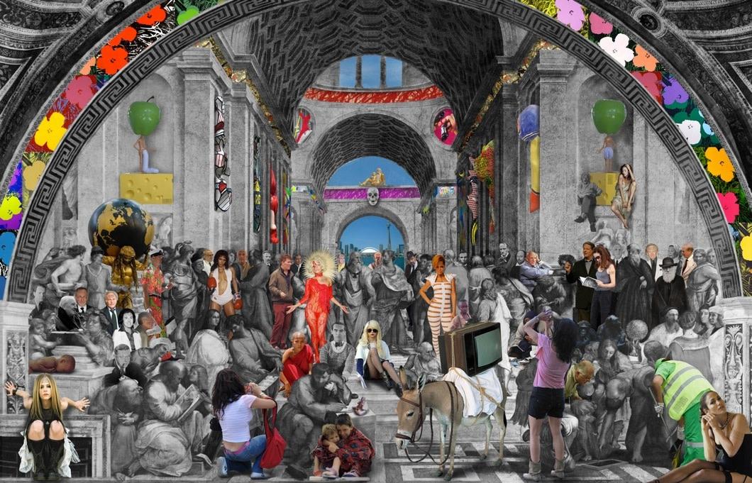 "<span class=""link fancybox-details-link""><a href=""/exhibitions/24/works/artworks643/"">View Detail Page</a></span><div class=""artist""><strong>Lluís Barba</strong></div><div class=""title""><em>The School of Athens, Raphael</em>, 2011</div><div class=""medium"">C-Type Print, Diasec Mounted<br> </div><div class=""dimensions"">116.8 x 177.8 cm<br>46 x 70 in.</div><div class=""edition_details"">Edition of 6 plus 3 artist's proofs</div>"