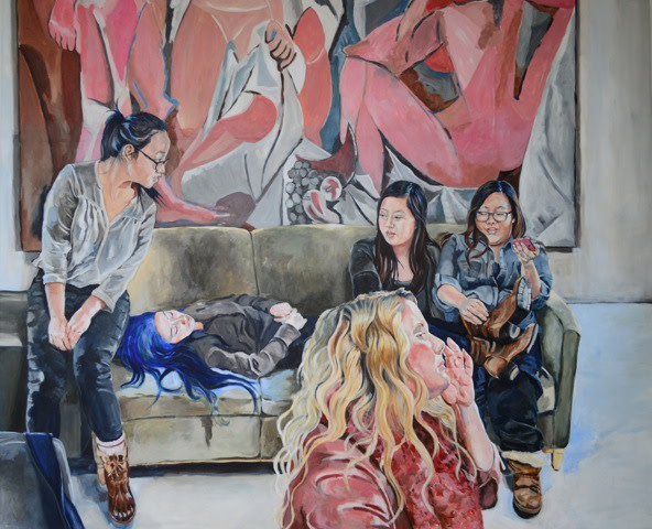 "<span class=""link fancybox-details-link""><a href=""/exhibitions/29/works/artworks1652/"">View Detail Page</a></span><div class=""artist""><strong>Carole Freeman</strong></div><div class=""title""><em>Demoiselles (study)</em>, 2017</div><div class=""signed_and_dated"">Verso / pencil</div><div class=""medium"">Acrylic on Paper</div><div class=""dimensions"">56 x 76 cm<br>22 1/8 x 29 7/8 in.<br></div>"