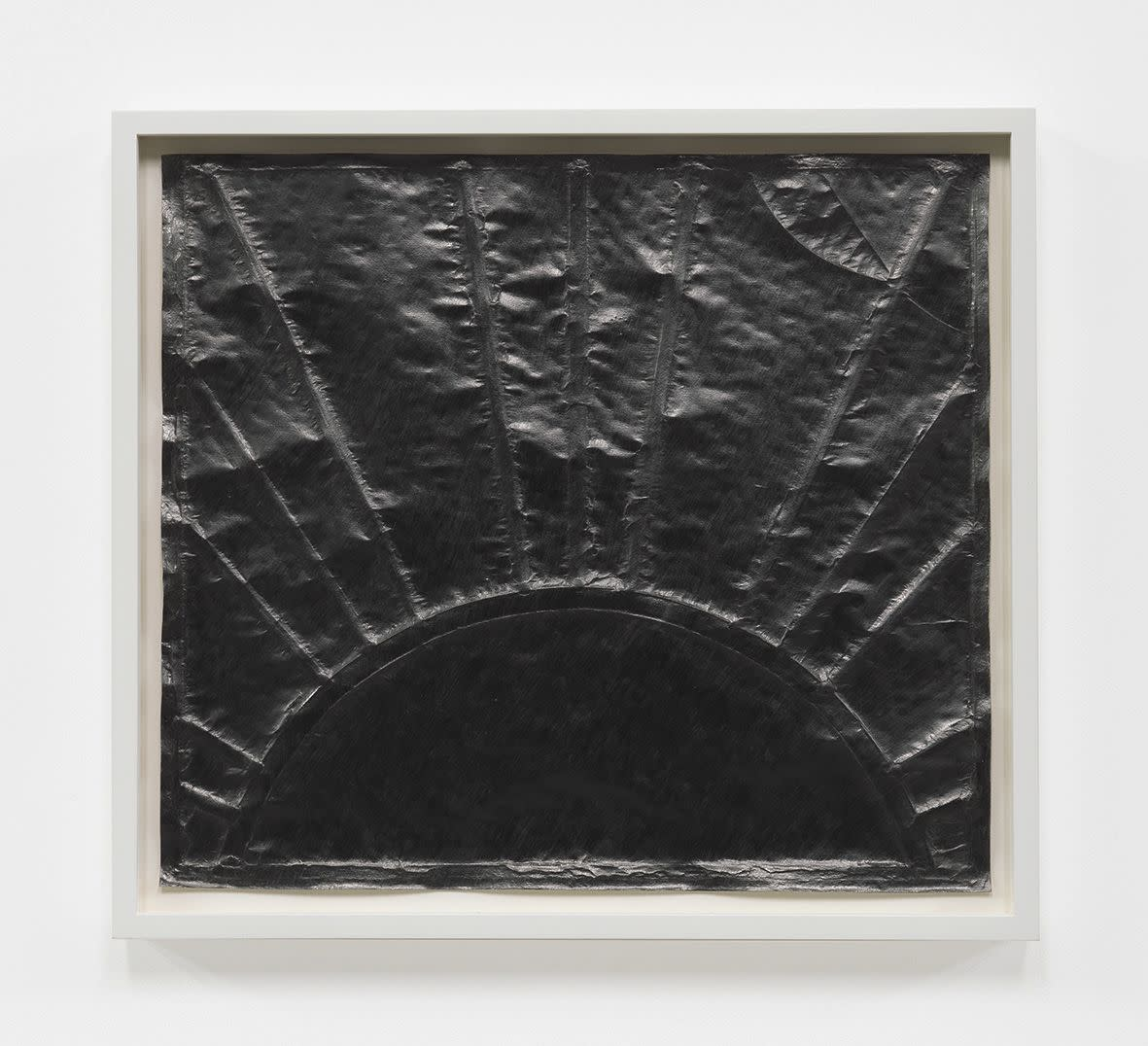 "<span class=""link fancybox-details-link""><a href=""/exhibitions/133/works/artworks9406/"">View Detail Page</a></span><div class=""artist""><strong>Anna Barriball</strong></div><div class=""title""><em>Sunrise/Sunset XII</em>, 2012</div><div class=""medium"">pencil on paper</div><div class=""dimensions"">framed: 43,5 x 48,6 cm</div>"