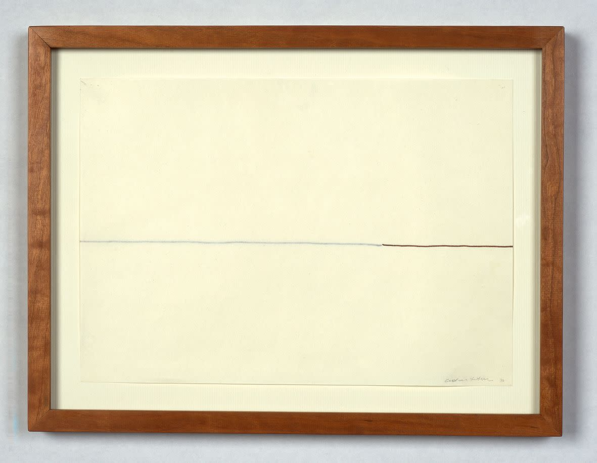 "<span class=""link fancybox-details-link""><a href=""/exhibitions/133/works/artworks9444/"">View Detail Page</a></span><div class=""artist""><strong> Goran Petercol</strong></div><div class=""title""><em>Within Arm's Reach (Line)</em>, 1977</div><div class=""medium"">marker on paper</div><div class=""dimensions"">21.0 x 29.0 cm<br>8 1/4 x 11 3/8 in</div>"