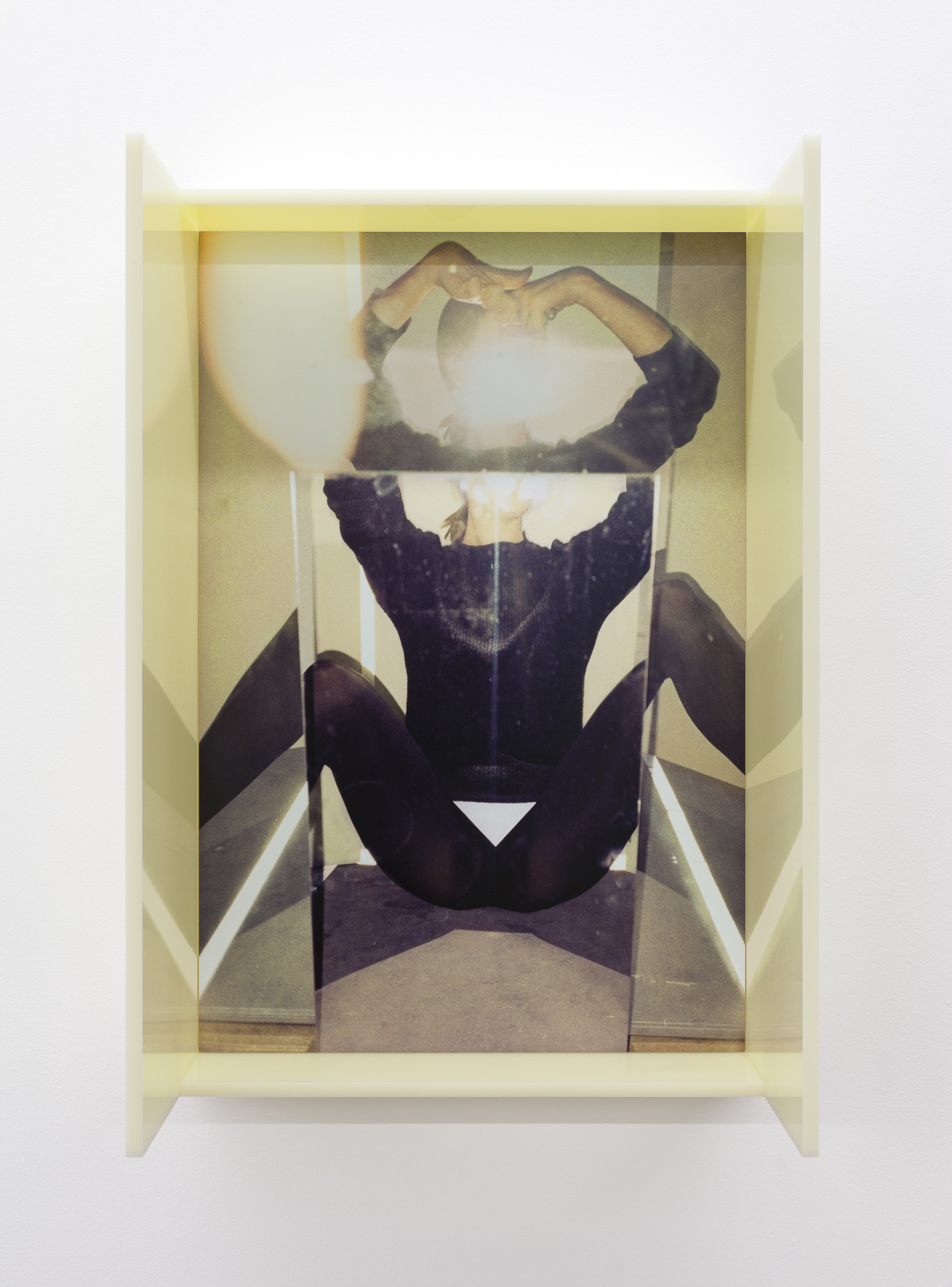 "<span class=""link fancybox-details-link""><a href=""/exhibitions/170/works/artworks16232/"">View Detail Page</a></span><div class=""artist""><strong>B. INGRID OLSON</strong></div><div class=""title""><em>Spider, splayed blinder</em>, 2019</div><div class=""medium"">plexiglas, dye sublimation print on aluminum, MDF, screws</div><div class=""dimensions"">71 x 48,25 x 25,5 cm</div>"