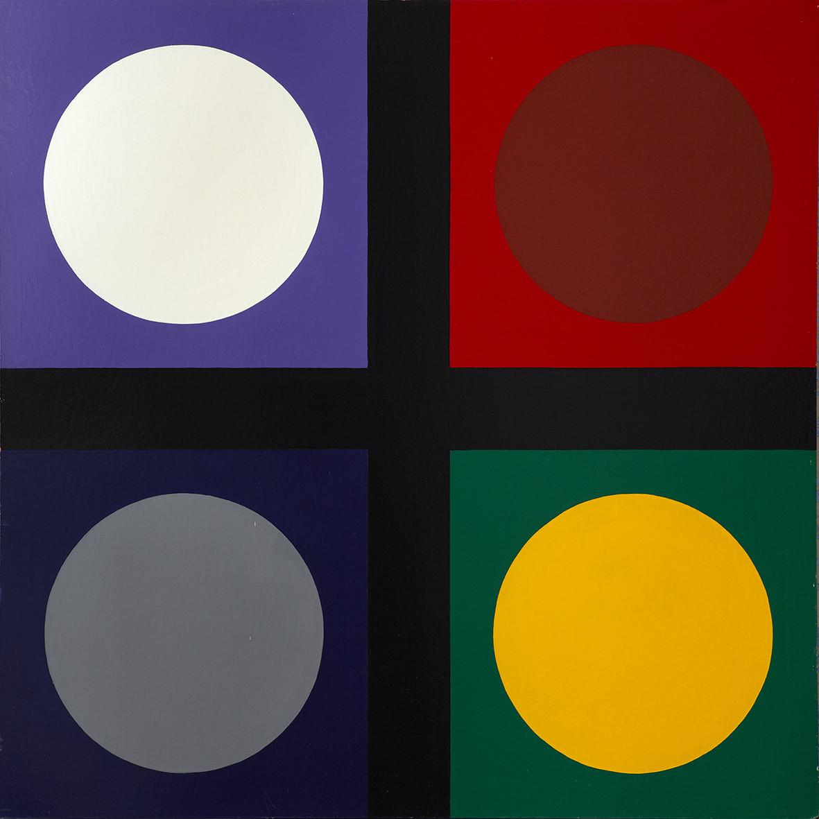 "<span class=""link fancybox-details-link""><a href=""/exhibitions/143/works/artworks11008/"">View Detail Page</a></span><div class=""artist""><strong> Poul Gernes</strong></div><div class=""title""><em>Untitled (tic tac toe painting)</em>, 1967</div><div class=""medium"">enamel paint on masonite</div><div class=""dimensions"">160.0 x 160.0 cm<br>62 15/16 x 62 15/16 in</div>"