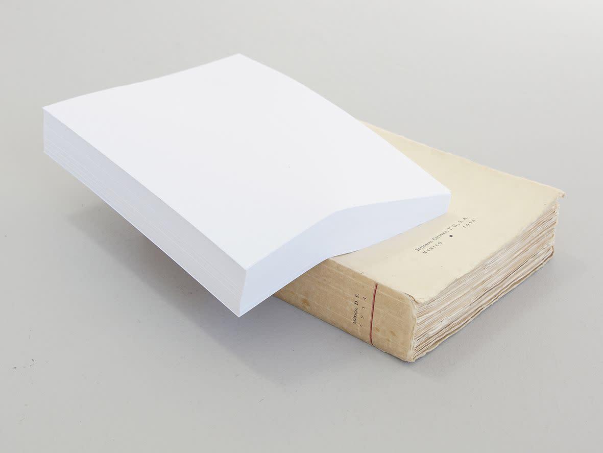 """<span class=""""link fancybox-details-link""""><a href=""""/exhibitions/133/works/artworks9407/"""">View Detail Page</a></span><div class=""""artist""""><strong> Ariel Schlesinger</strong></div><div class=""""title""""><em>The friend of the universe (Un hombre perdidi en el universo)</em>, 2013</div><div class=""""medium"""">paper, book</div><div class=""""dimensions"""">36.0 x 60.0 x 22.0 cm<br>14 1/16 x 23 3/16 x 8 1/4 in</div>"""