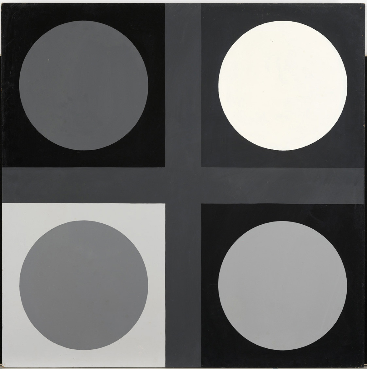 "<span class=""link fancybox-details-link""><a href=""/exhibitions/143/works/artworks11006/"">View Detail Page</a></span><div class=""artist""><strong> Poul Gernes</strong></div><div class=""title""><em>Untitled (tic tac toe painting)</em>, 1967</div><div class=""medium"">enamel paint on masonite</div><div class=""dimensions"">122.0 x 122.0 cm<br>48 x 48 in</div>"
