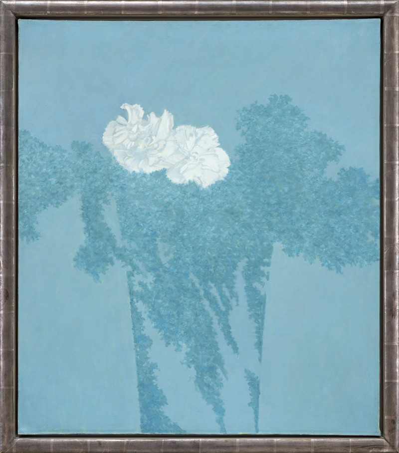 """<span class=""""link fancybox-details-link""""><a href=""""/exhibitions/6/works/artworks399/"""">View Detail Page</a></span><div class=""""artist""""><strong>Edward Middleditch</strong></div> 1923-1987<div class=""""title""""><em>Composition in Blue</em></div><div class=""""signed_and_dated"""">painted circa 1969</div><div class=""""medium"""">oil on canvas</div><div class=""""dimensions"""">99 x 85 cms (39 x 33.5 ins)<br>framed: 42 ½ x 37 ins (108 x 94 cms)</div>"""
