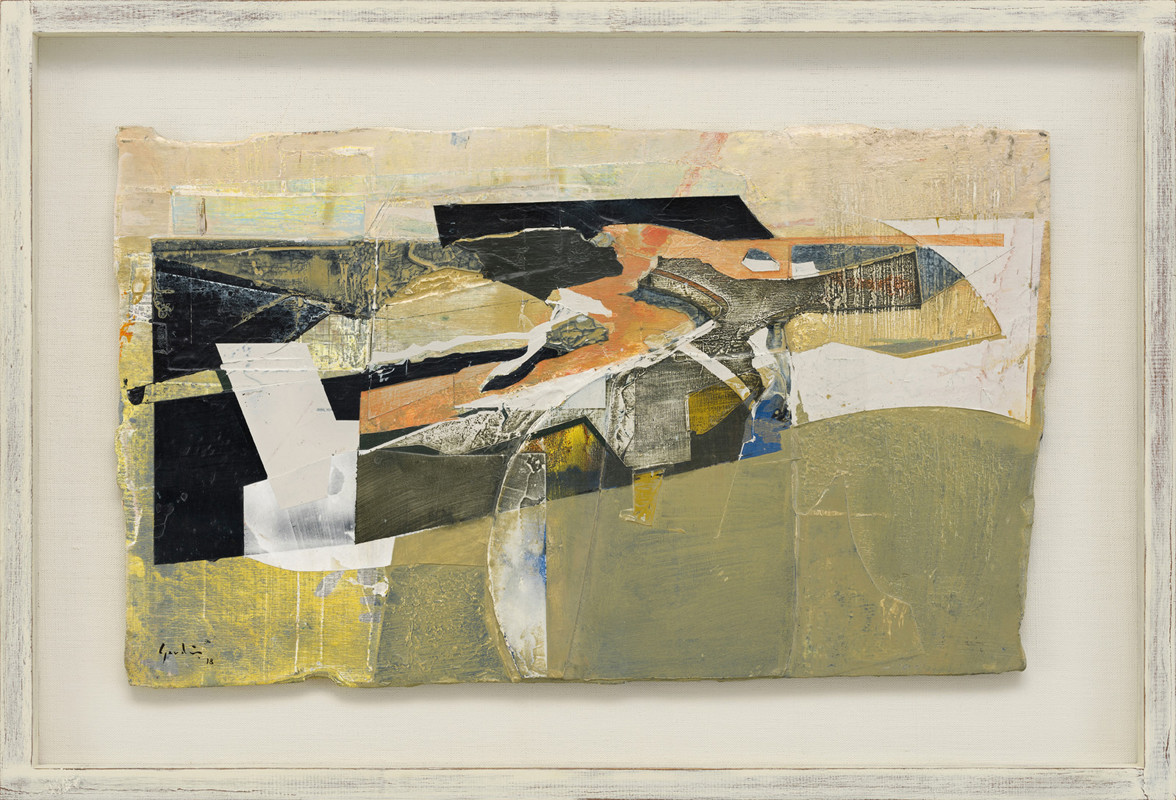 <span class=&#34;link fancybox-details-link&#34;><a href=&#34;/exhibitions/21/works/artworks916/&#34;>View Detail Page</a></span><div class=&#34;signed_and_dated&#34;>signed and dated 2018<br /> titled verso</div> <div class=&#34;medium&#34;>acrylic and jesmonite on poplar panel<br /> </div> <div class=&#34;dimensions&#34;>30 x 50 cms (12 x 19.5 ins)<br /> framed: 43 x 62 cms (17 x 24.5 ins)</div>