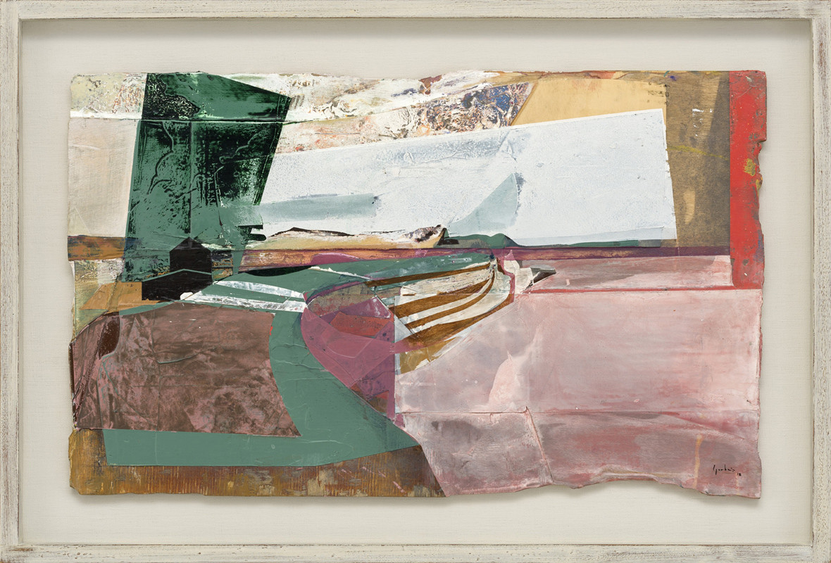 <span class=&#34;link fancybox-details-link&#34;><a href=&#34;/exhibitions/21/works/artworks941/&#34;>View Detail Page</a></span><div class=&#34;signed_and_dated&#34;>signed and dated 2018<br /> titled verso</div> <div class=&#34;medium&#34;>acrylic and jesmonite on poplar panel</div> <div class=&#34;dimensions&#34;>40 x 65 cms (16 x 25.5 ins)<br /> framed: 53 x 78 cms (21 x 30.5 ins)</div>