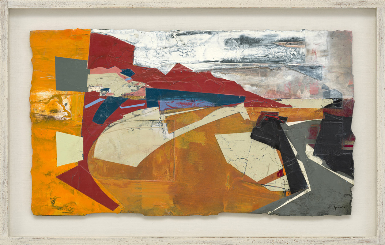 <span class=&#34;link fancybox-details-link&#34;><a href=&#34;/exhibitions/21/works/artworks919/&#34;>View Detail Page</a></span><div class=&#34;signed_and_dated&#34;>signed and dated 2018<br /> titled verso</div> <div class=&#34;medium&#34;>acrylic and jesmonite on poplar panel</div> <div class=&#34;dimensions&#34;>40 x 70 cms (16 x 27.5 ins)<br /> framed: 53 x 83 cms (21 x 32.5 ins)</div>