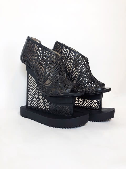 <span class=&#34;link fancybox-details-link&#34;><a href=&#34;/exhibitions/23/works/artworks5022/&#34;>View Detail Page</a></span><div class=&#34;medium&#34;>Wood, laser-cut leather and an ultra-thin transparent acrylic heel </div> <div class=&#34;dimensions&#34;><br /> Price on request</div> <div class=&#34;edition_details&#34;>Edition of 10</div>