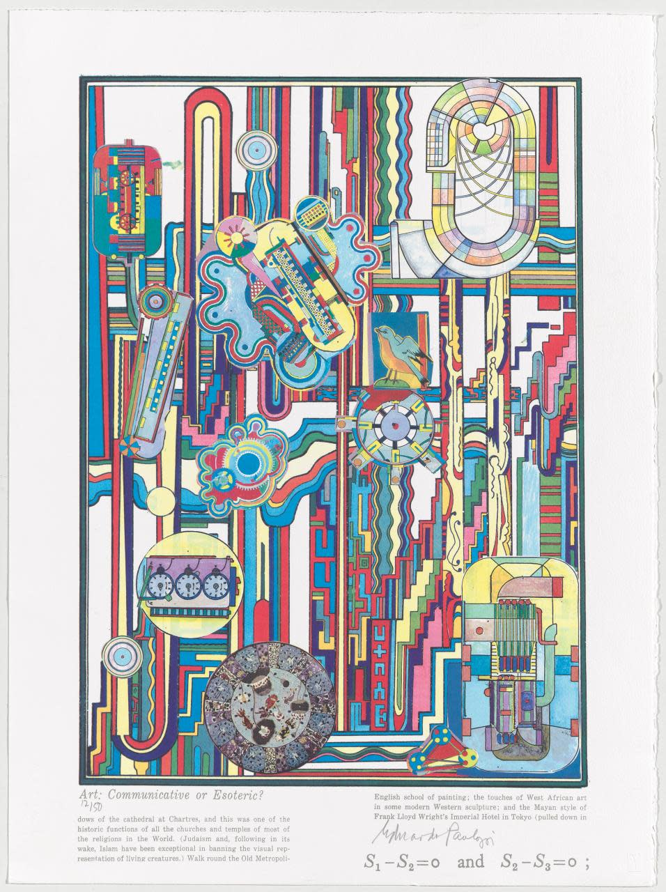 <span class=&#34;link fancybox-details-link&#34;><a href=&#34;/content/viewing-room/29/artworks847/&#34;>View Detail Page</a></span><div class=&#34;artist&#34;><strong>Eduardo Paolozzi</strong></div> 1924-2005<div class=&#34;title&#34;><em>Turing Suite 7</em>, 2000</div><div class=&#34;signed_and_dated&#34;>Signed & numbered </div><div class=&#34;medium&#34;>Screenprint - ed. AP XII / XX</div><div class=&#34;dimensions&#34;>76x56cm</div>