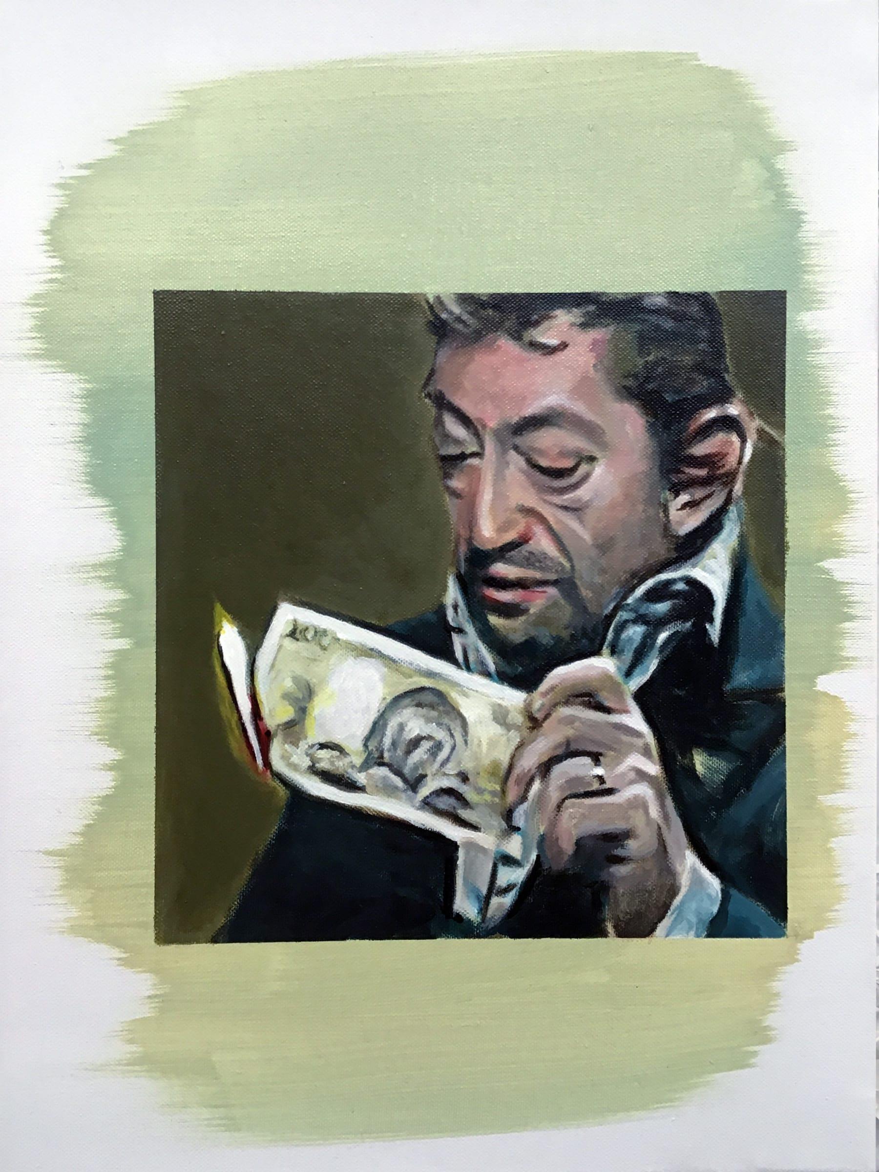 "<span class=""link fancybox-details-link""><a href=""/exhibitions/91/works/artworks11239/"">View Detail Page</a></span><div class=""artist""><strong>Filip MARKIEWICZ</strong></div><div class=""title""><em>Gainsbourg</em>, 2019</div><div class=""signed_and_dated"">Signed & dated</div><div class=""medium"">Oil on canvas</div><div class=""dimensions"">56 x 41 cm<br>22 1/8 x 16 1/8 in</div>"