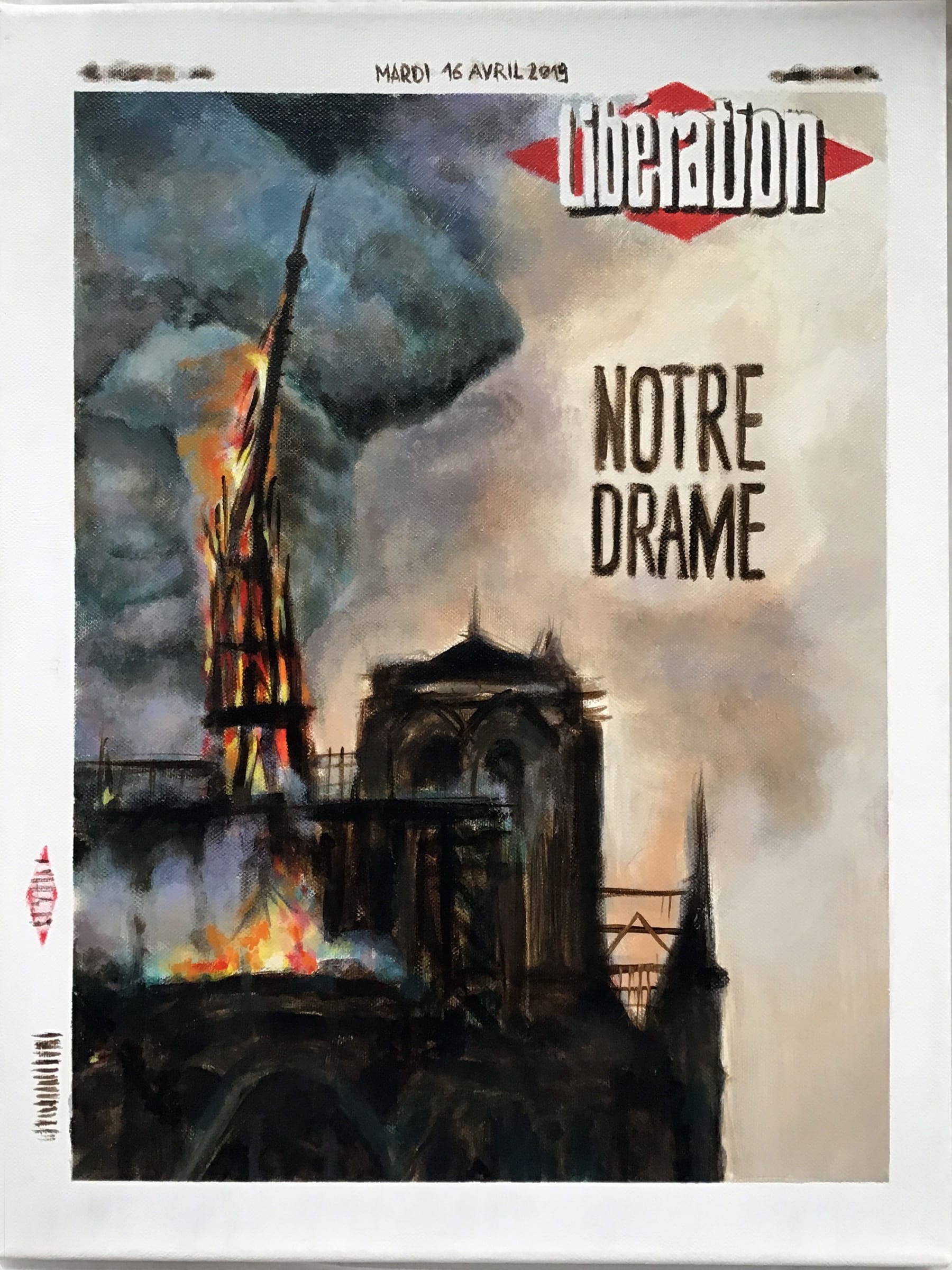 "<span class=""link fancybox-details-link""><a href=""/exhibitions/91/works/artworks11241/"">View Detail Page</a></span><div class=""artist""><strong>Filip MARKIEWICZ</strong></div><div class=""title""><em>Notre Libération</em>, 2019</div><div class=""signed_and_dated"">Signed & dated</div><div class=""medium"">Oil on canvas</div><div class=""dimensions"">56 x 41 cm<br>22 1/8 x 16 1/8 in</div>"