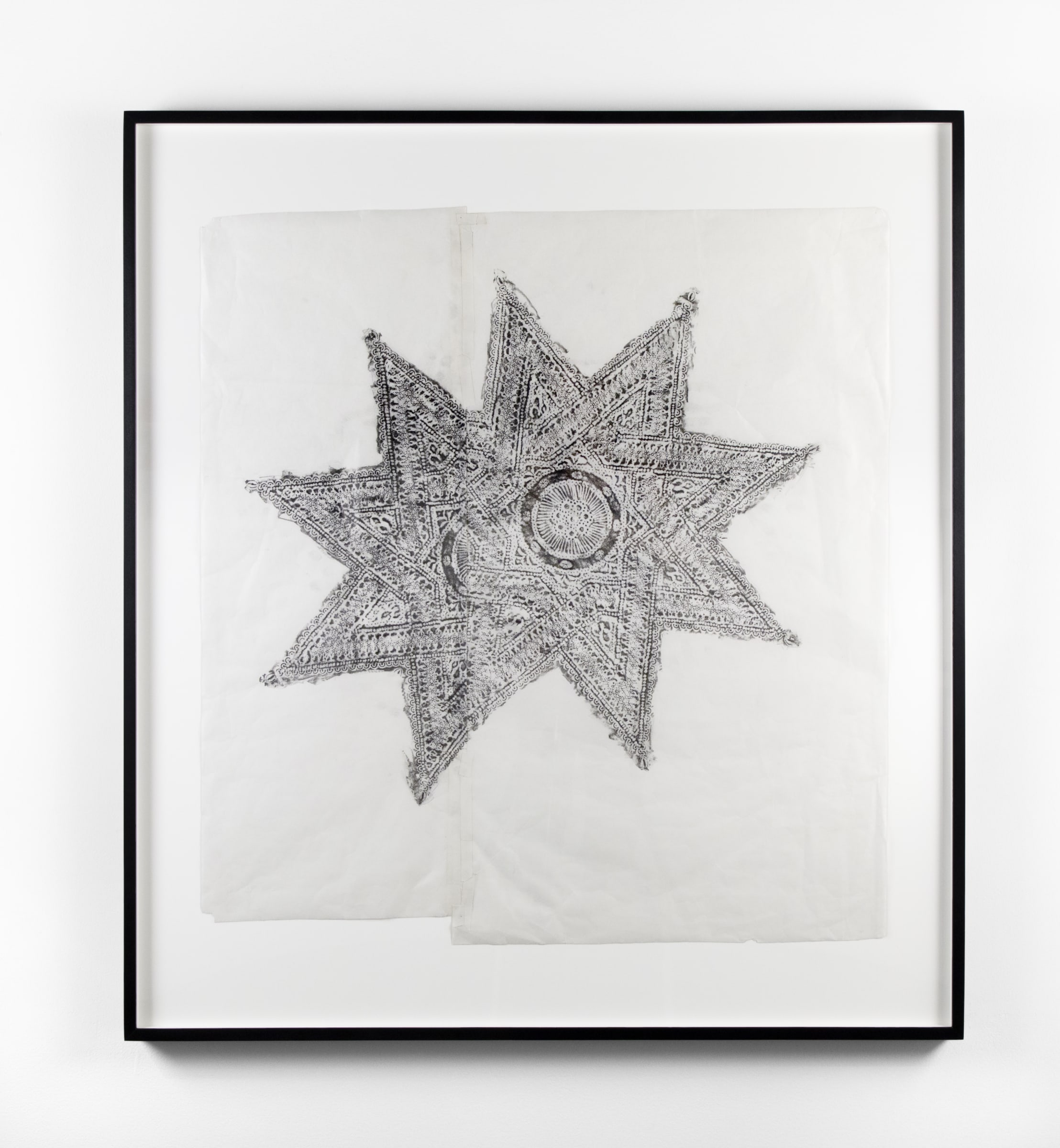 <span class=&#34;link fancybox-details-link&#34;><a href=&#34;/exhibitions/9/works/artworks14/&#34;>View Detail Page</a></span><div class=&#34;medium&#34;>Graphite on shoji paper, with artists tape, framed</div> <div class=&#34;dimensions&#34;>38 1/8 x 34 in<br /> 96.8 x 86.4 cm</div>