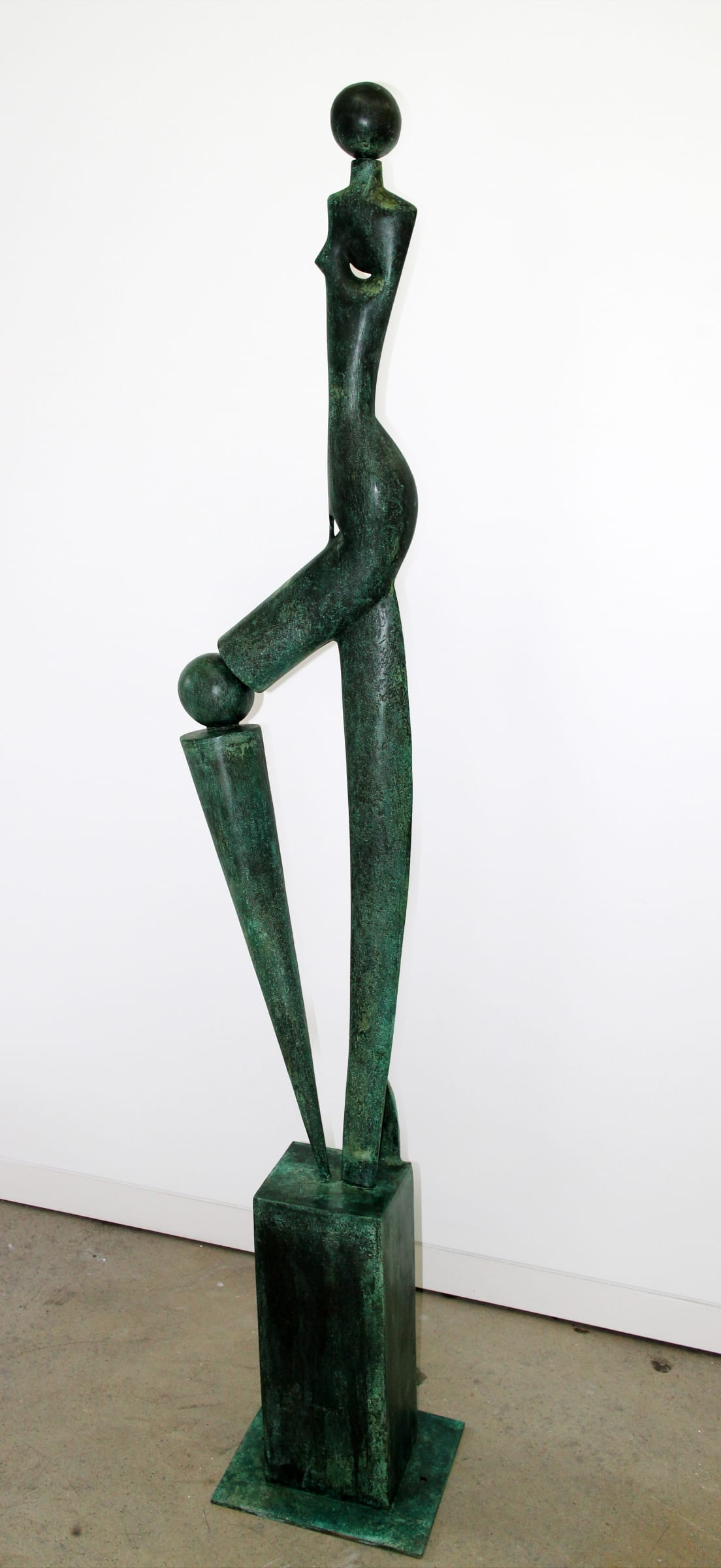"""<span class=""""link fancybox-details-link""""><a href=""""/exhibitions/59/works/artworks4992/"""">View Detail Page</a></span><div class=""""medium"""">Cast Patinated Bronze</div> <div class=""""dimensions"""">79.9 x 13.2 x 13 in<br />203 x 33.5 x 33 cm</div>"""