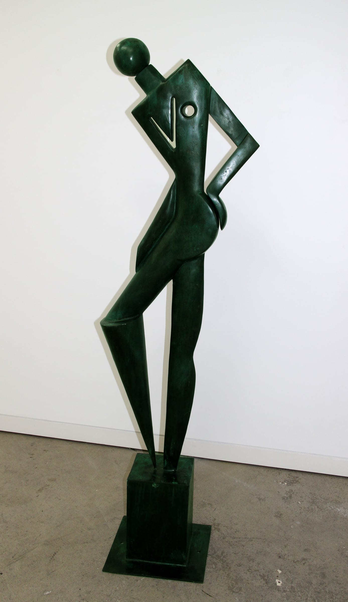 """<span class=""""link fancybox-details-link""""><a href=""""/exhibitions/59/works/artworks4993/"""">View Detail Page</a></span><div class=""""medium"""">Cast Patinated Bronze</div> <div class=""""dimensions"""">78.7 x 14.6 x 13.4 in<br />200 x 37 x 34 cm</div>"""