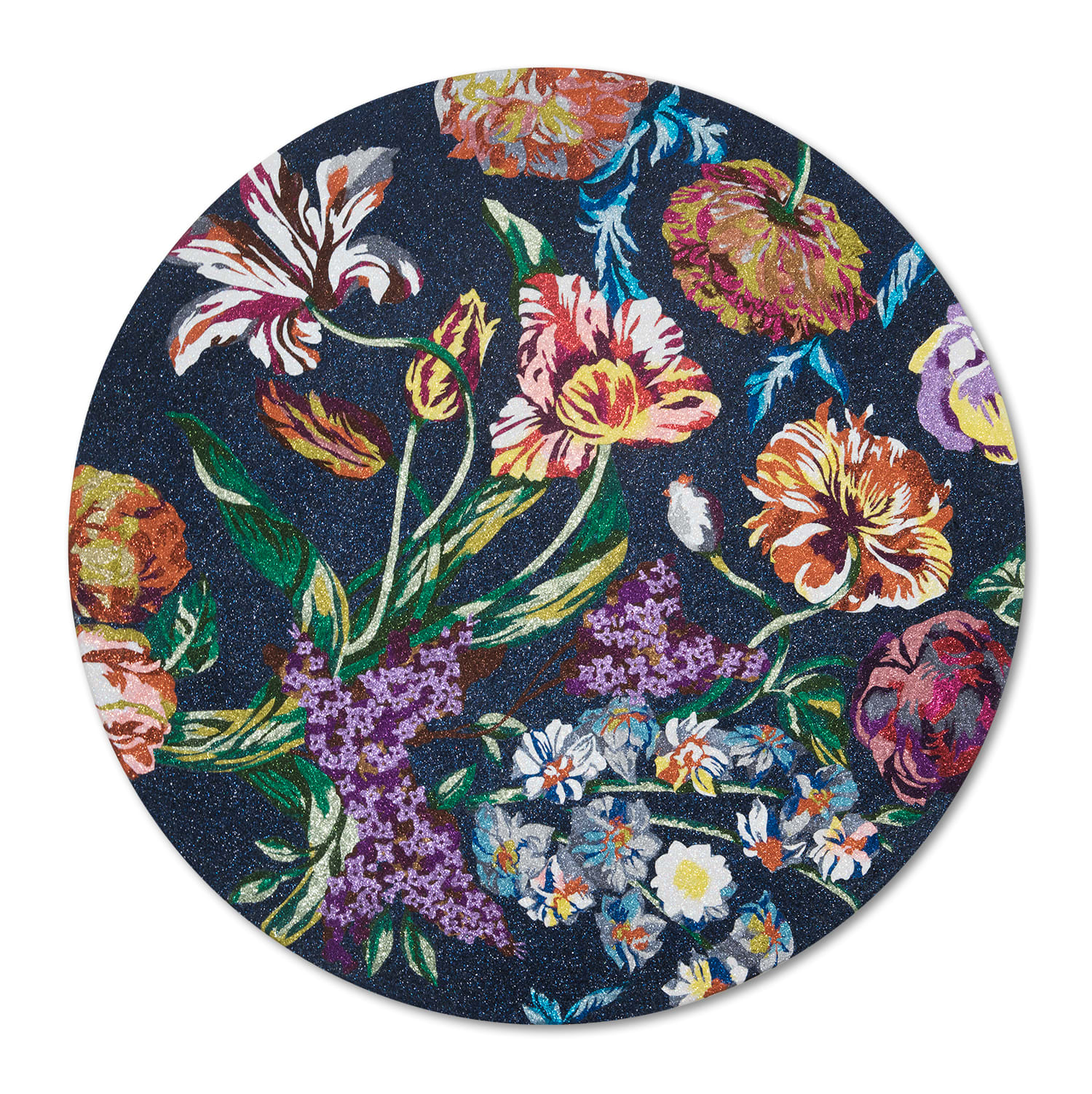 <span class=&#34;link fancybox-details-link&#34;><a href=&#34;/exhibitions/53/works/artworks7707/&#34;>View Detail Page</a></span><div class=&#34;medium&#34;>Glitter on canvas</div> <div class=&#34;dimensions&#34;>1200mm diameter</div>